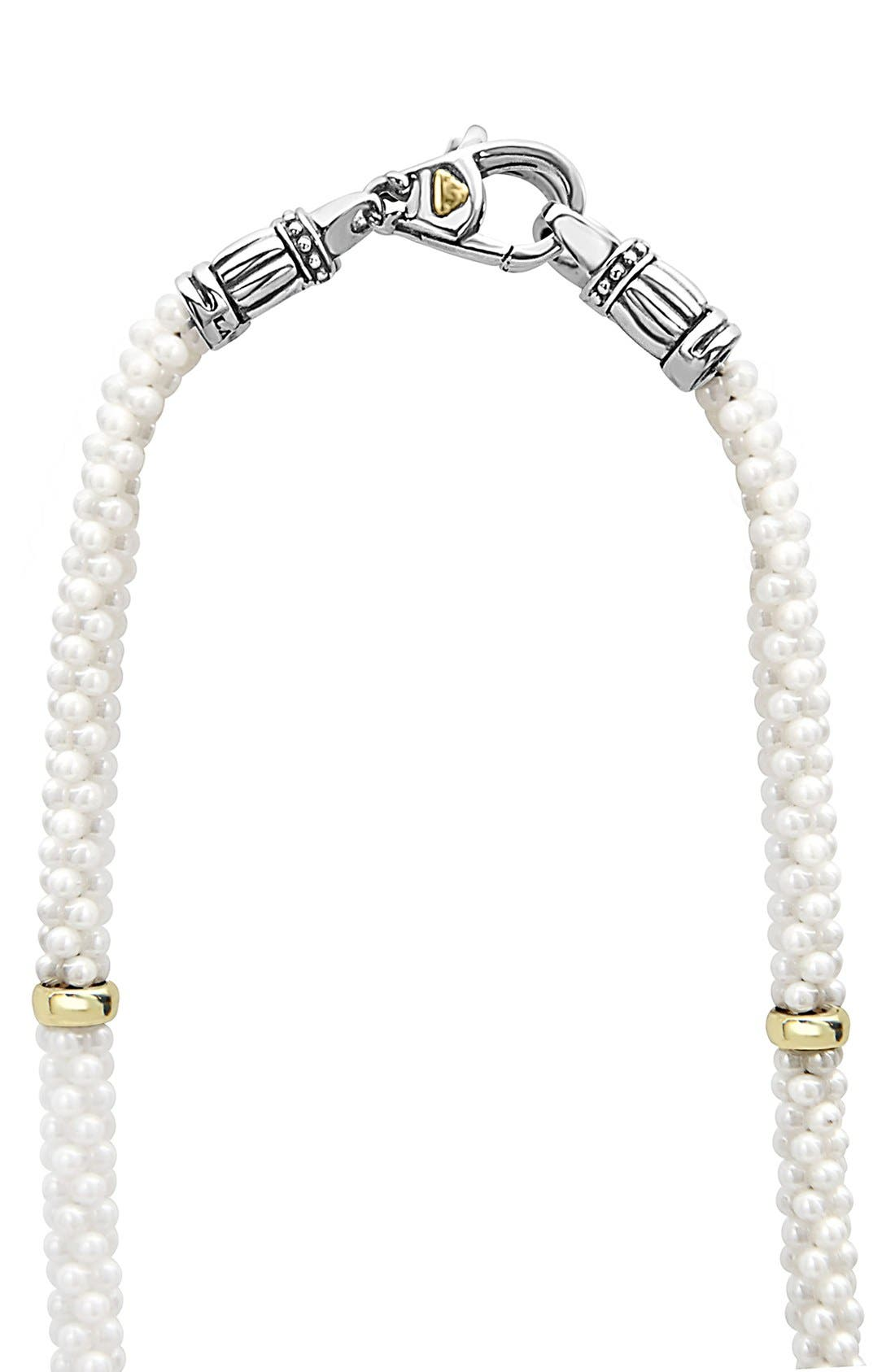 Alternate Image 3  - LAGOS 'White Caviar' 5mm Beaded Station Necklace