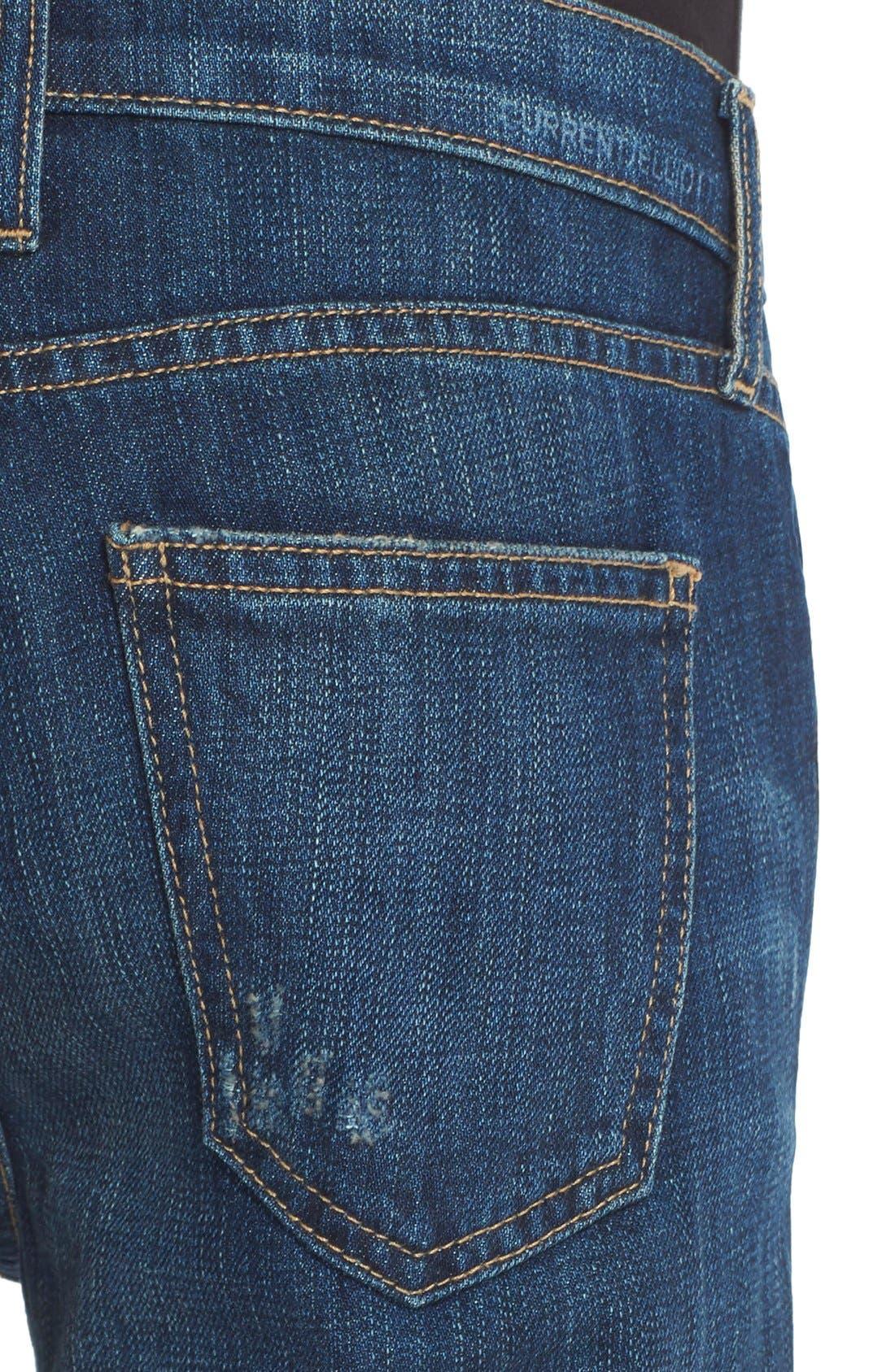 Alternate Image 4  - Current/Elliott 'The Fling' Boyfriend Jeans (Loved Destroy)