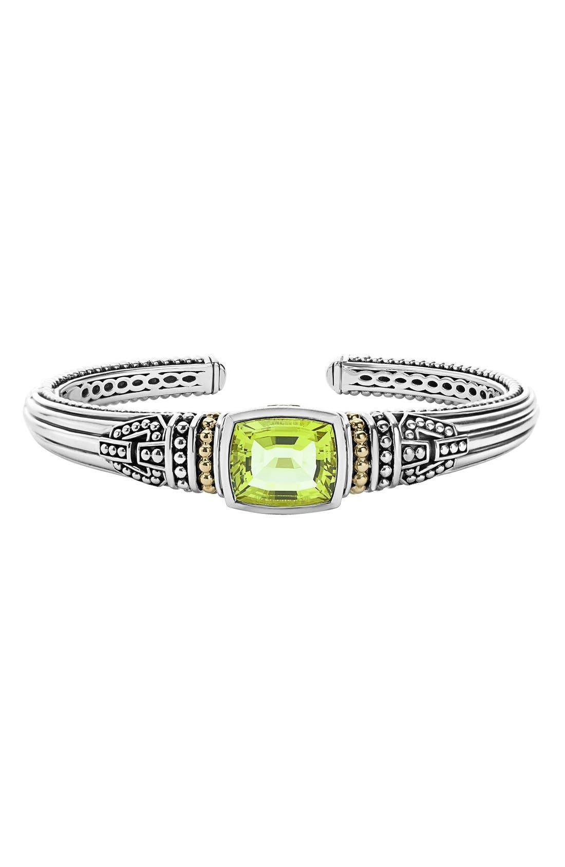 Alternate Image 1 Selected - LAGOS 'Caviar Color' Semiprecious Stone Cuff