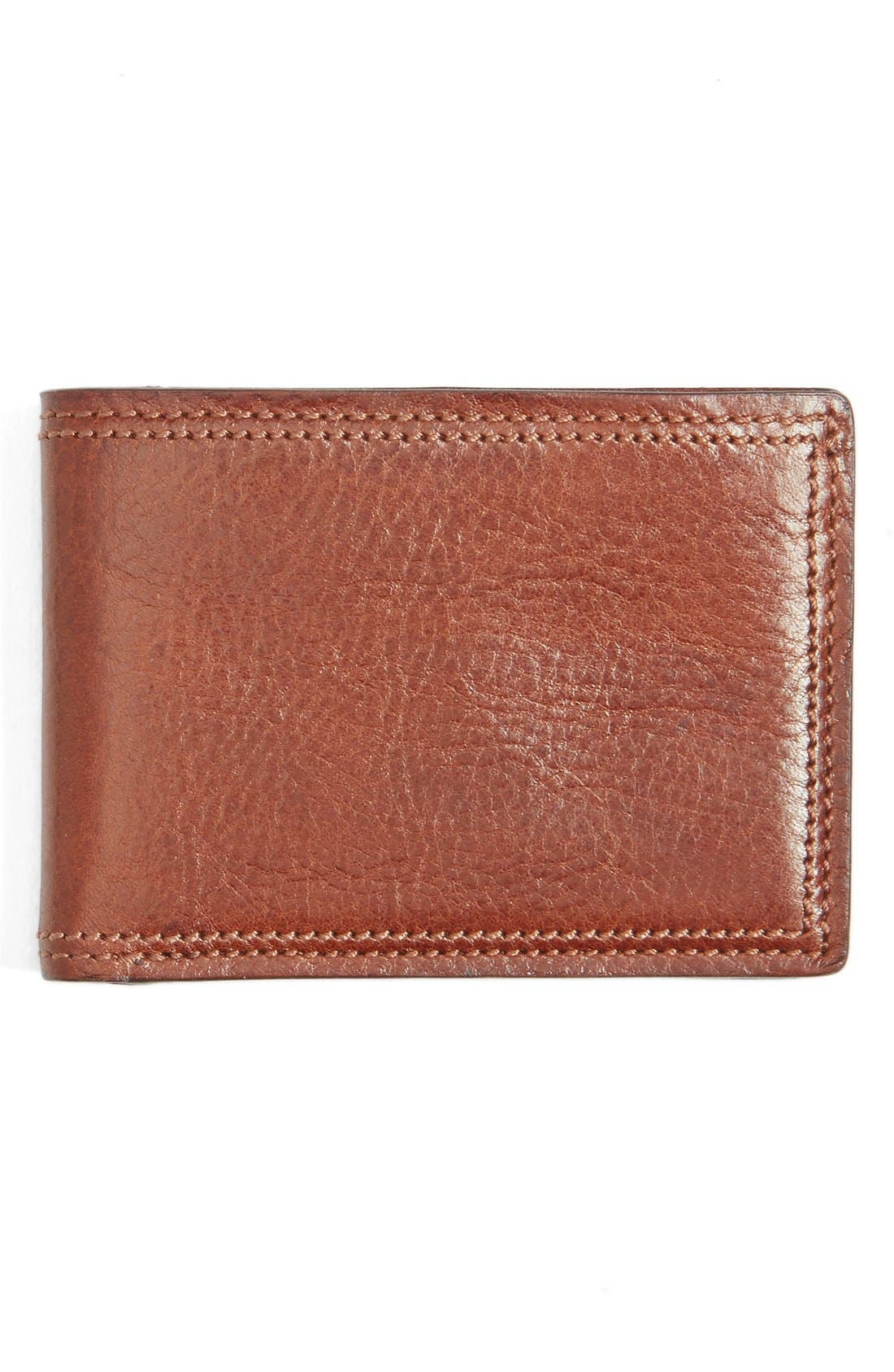 Leather Bifold Wallet,                         Main,                         color, Amber