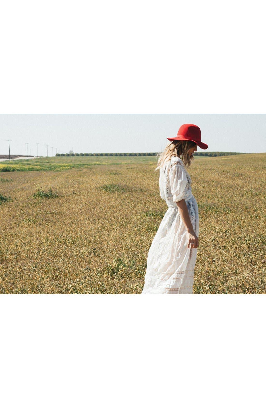 Alternate Image 4  - Brixton 'Dahlia' Floppy Brim Wool Hat