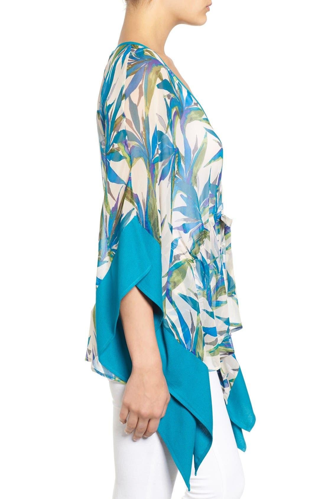 Alternate Image 3  - Ella Moss Print Silk Tunic Top