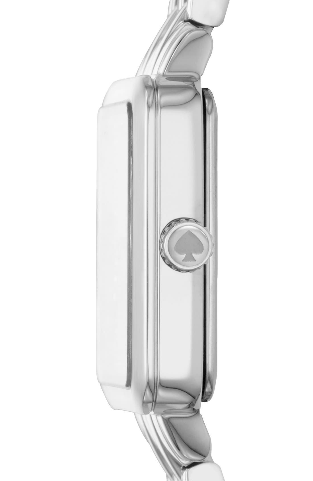 washington square bracelet watch, 25mm,                             Alternate thumbnail 3, color,                             Silver/ Mother Of Pearl