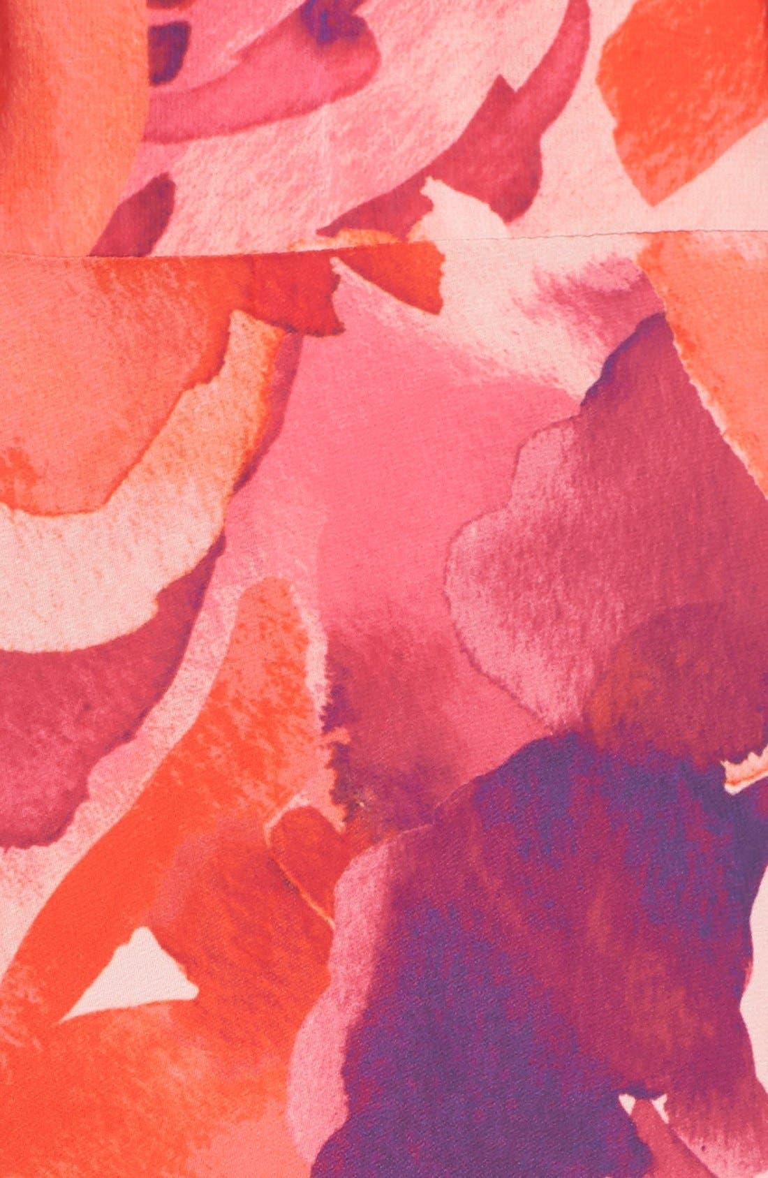 Floral Print Halter Maxi Dress,                             Alternate thumbnail 5, color,                             Pink/ Coral/ Purple