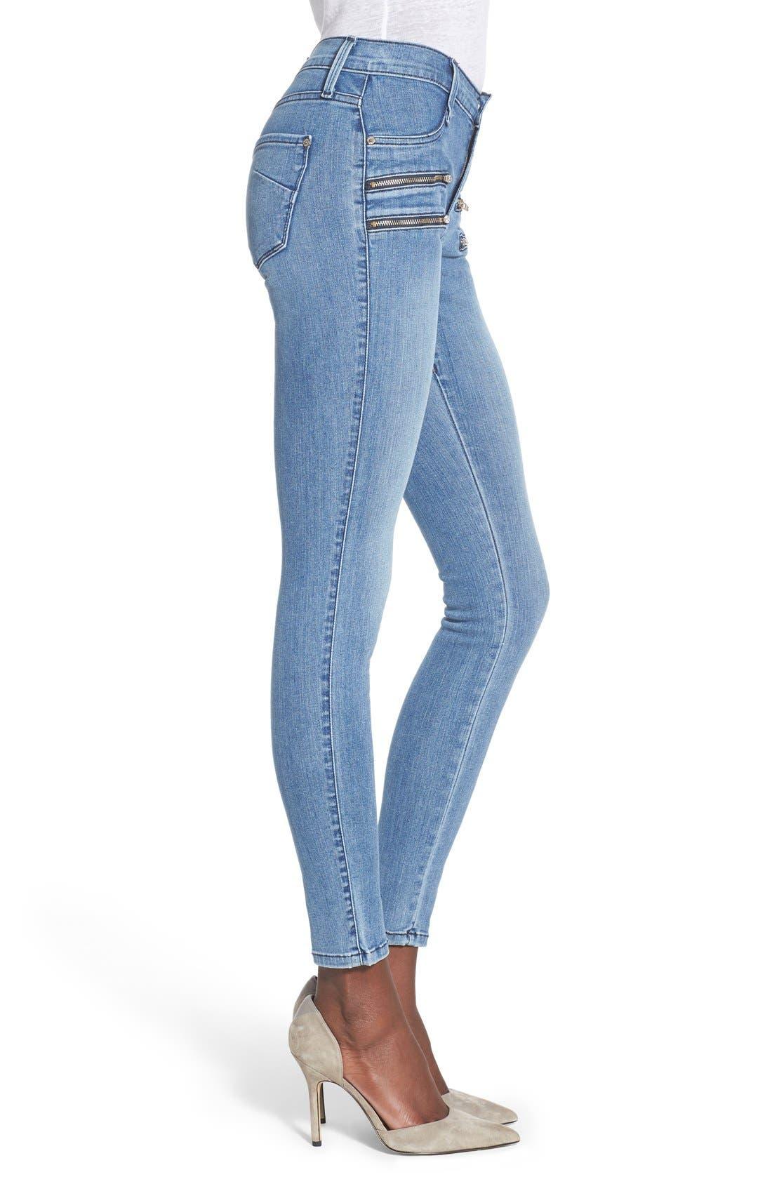 Alternate Image 3  - James Jeans Double Front Zip Denim Leggings (Splash)
