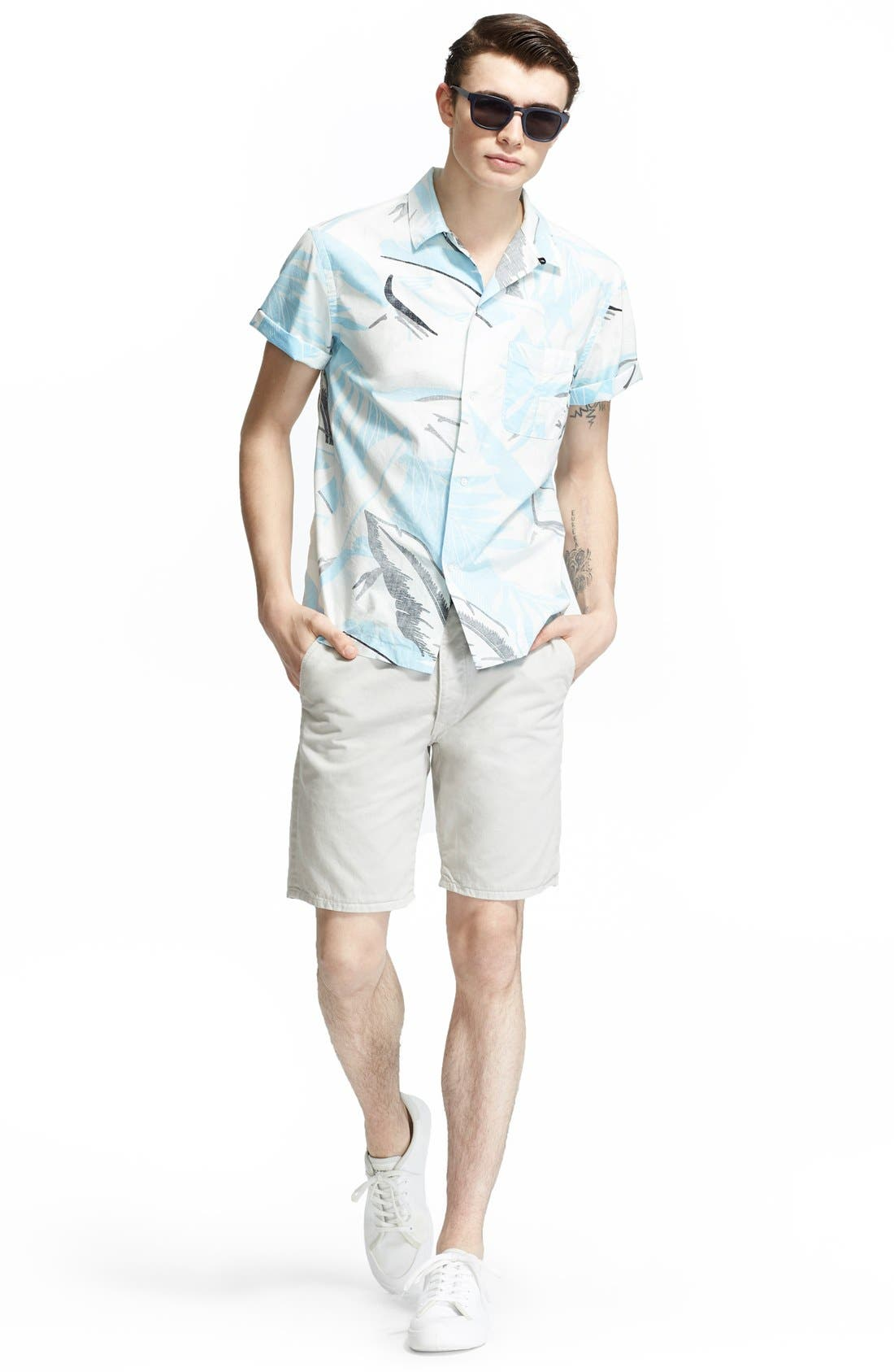 'Standard Issue' Cotton Shorts,                             Alternate thumbnail 6, color,                             Pale Gray