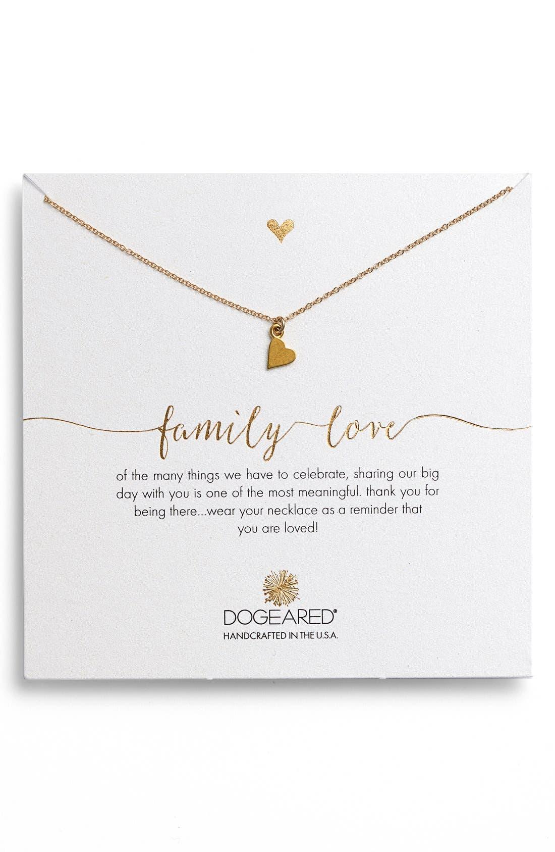DOGEARED Heart Pendant Necklace