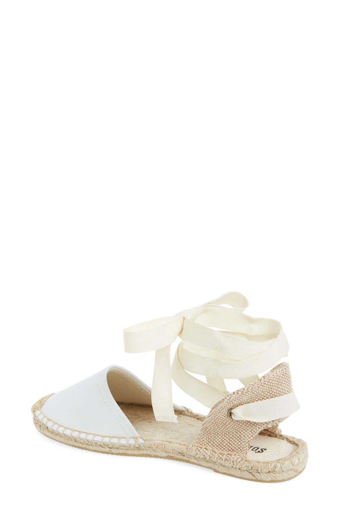 Espadrille Sandal,                             Alternate thumbnail 2, color,                             White