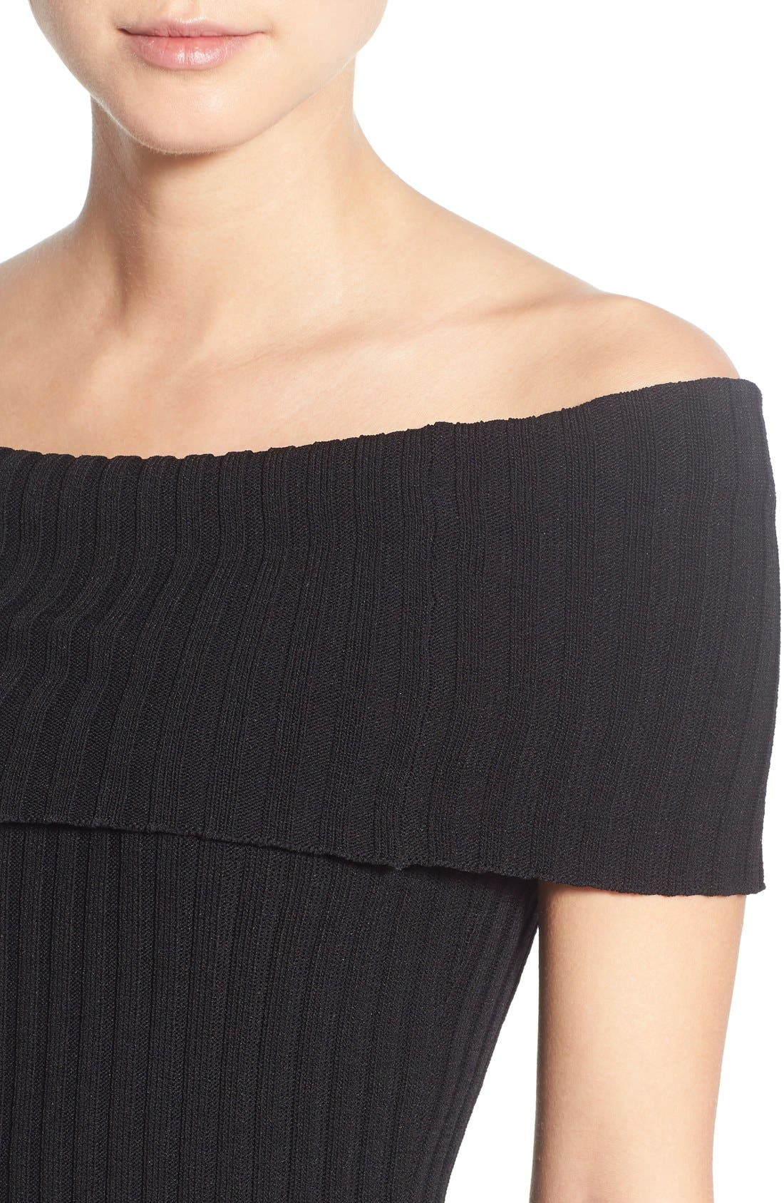Alternate Image 4  - Olivia Palermo + Chelsea28 Rib Knit Off the Shoulder Sweater