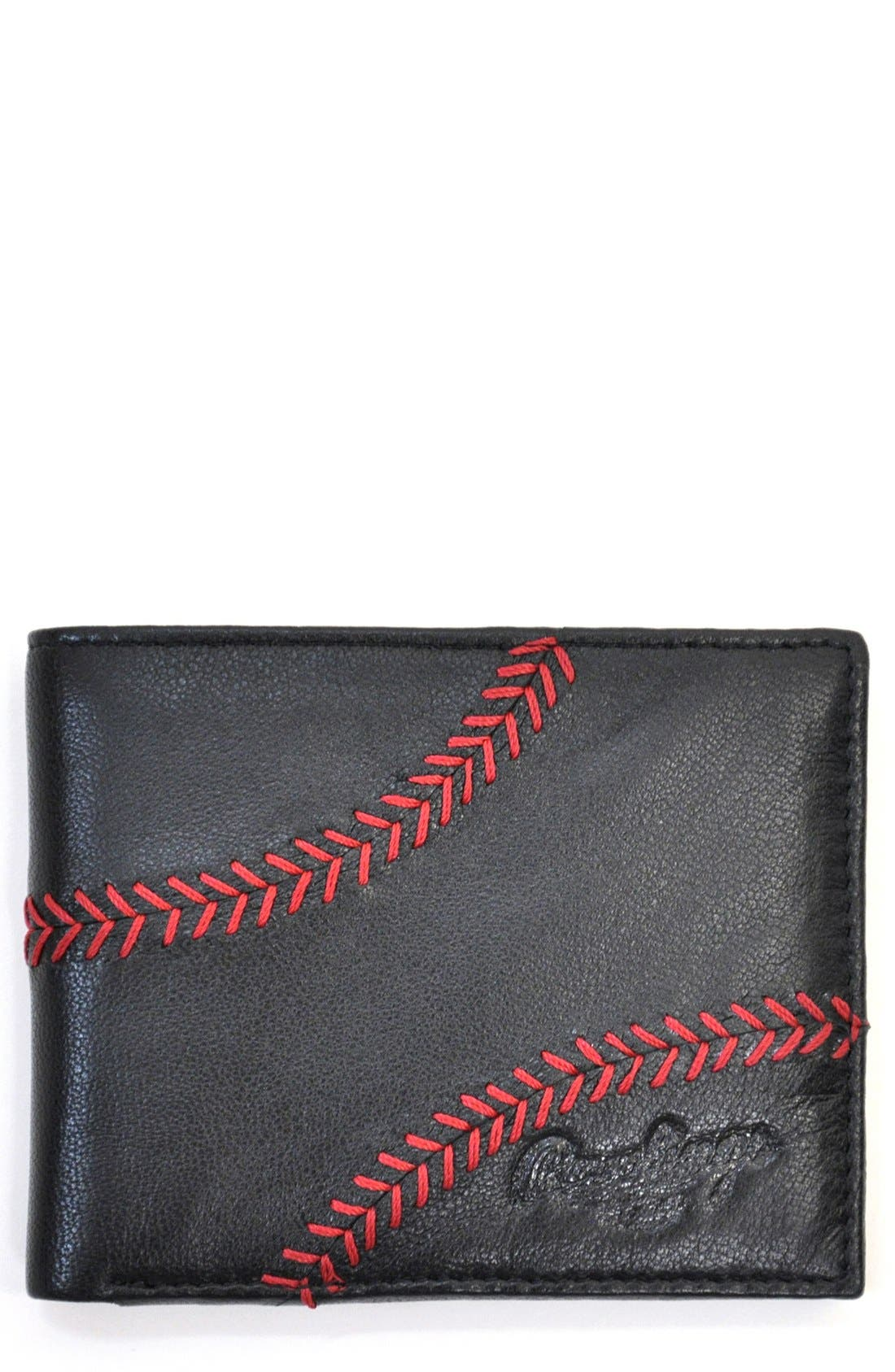 Rawlings 174 Baseball Stitch Leather Wallet Nordstrom