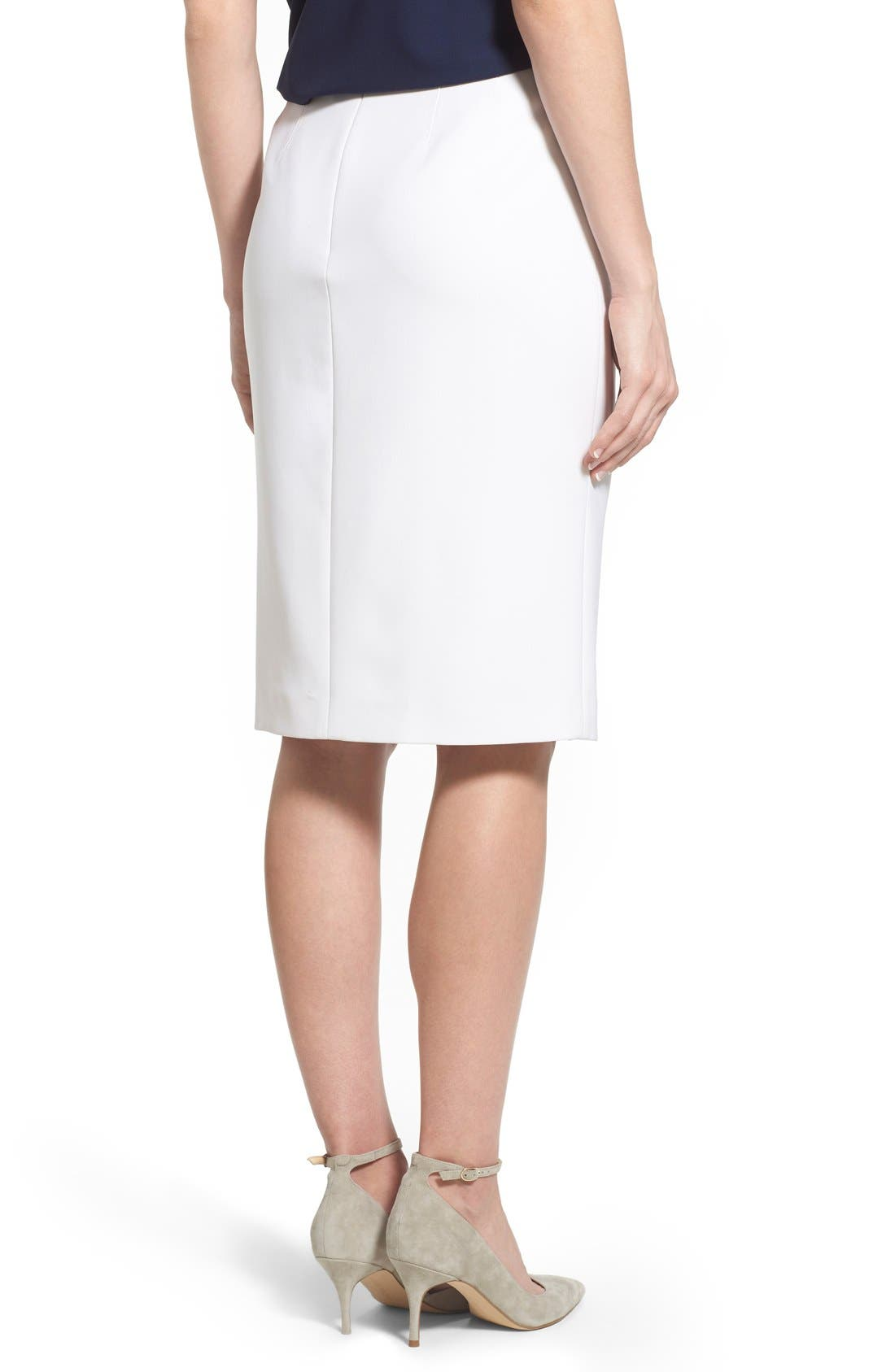 Alternate Image 2  - Ellen Tracy Asymmetrical Front Slit Pencil Skirt