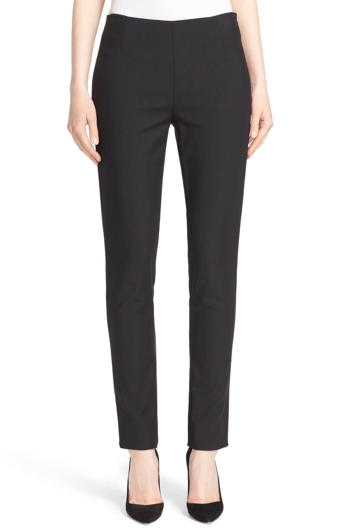 Lela Rose 'Catherine' Stretch Twill Ankle Pants
