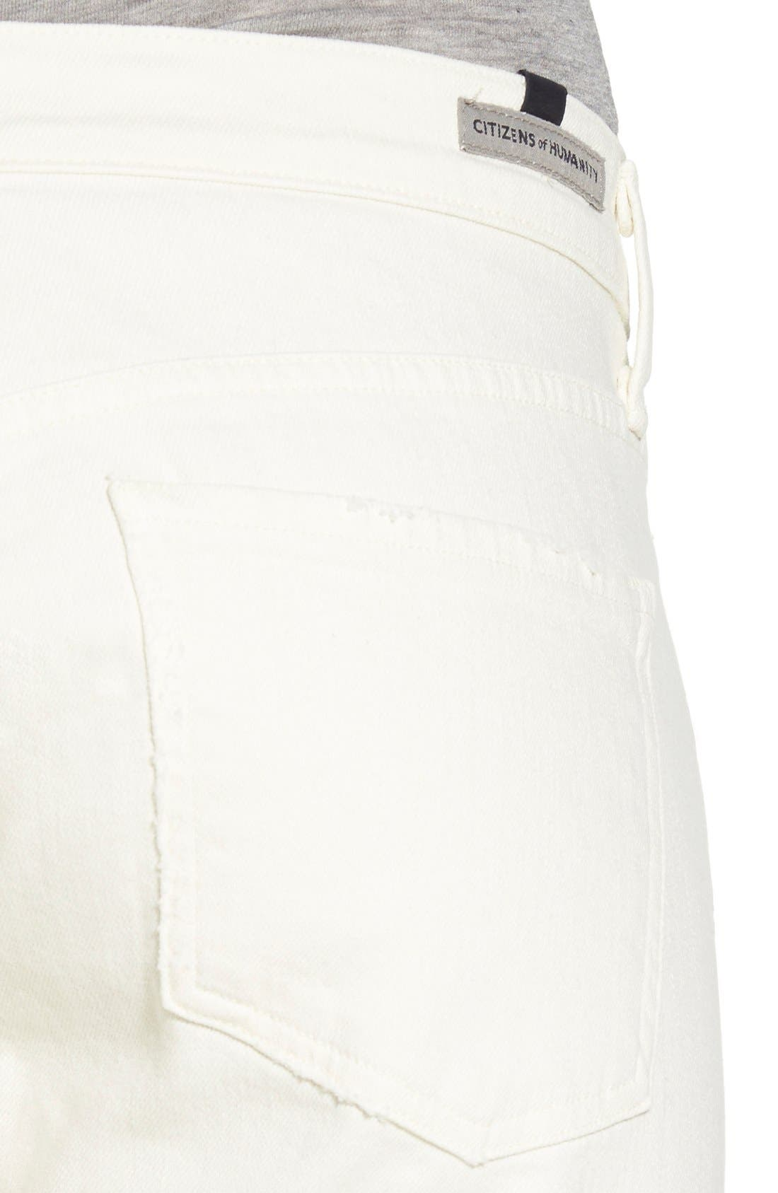 'Emerson' Distressed Slim Boyfriend Jeans,                             Alternate thumbnail 4, color,                             Distressed Natural