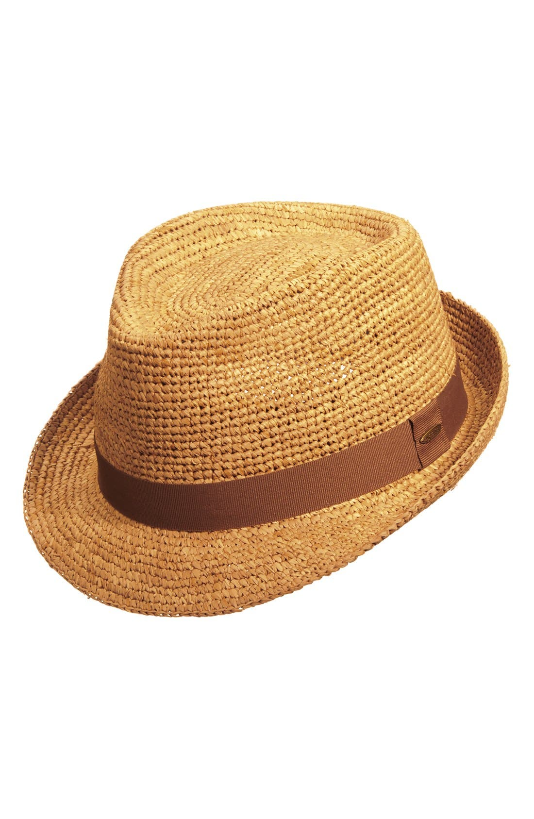 Straw Trilby,                         Main,                         color, Tea