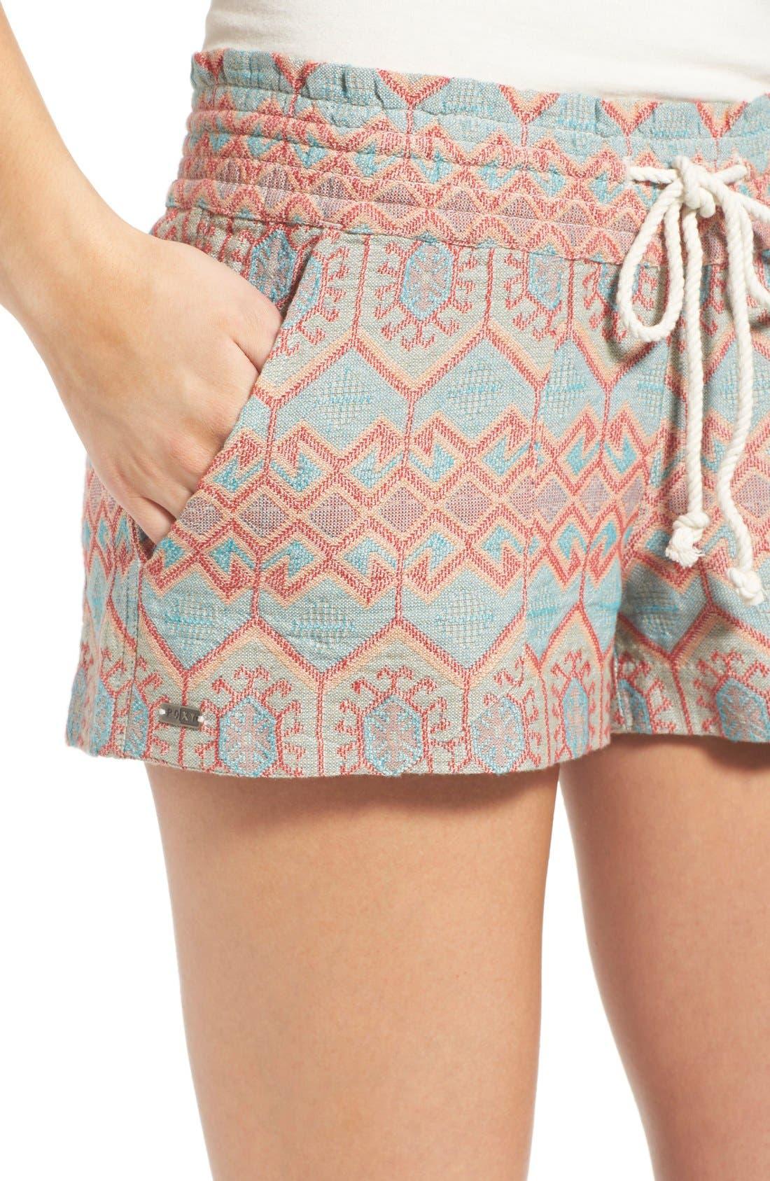 Alternate Image 4  - Roxy 'Oceanside' Jacquard Shorts