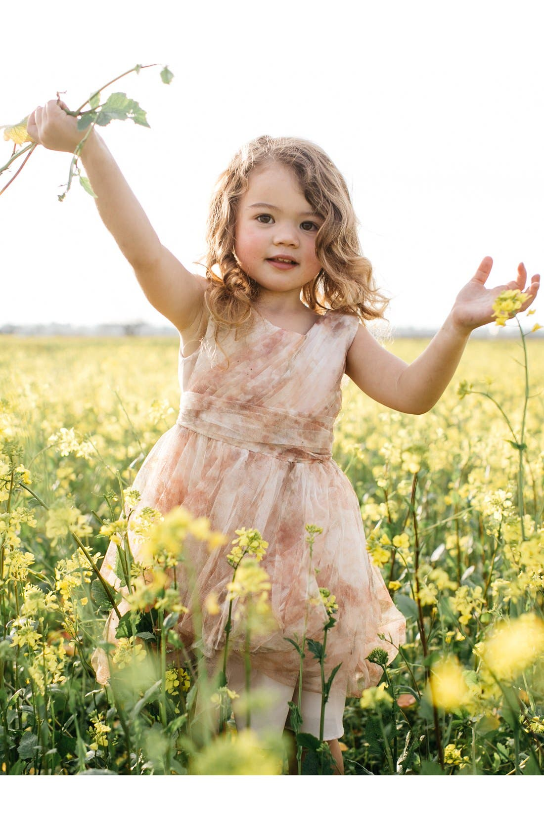 Etsy - Vintage Floral Tulle Dress,                             Alternate thumbnail 6, color,                             Blush Multi