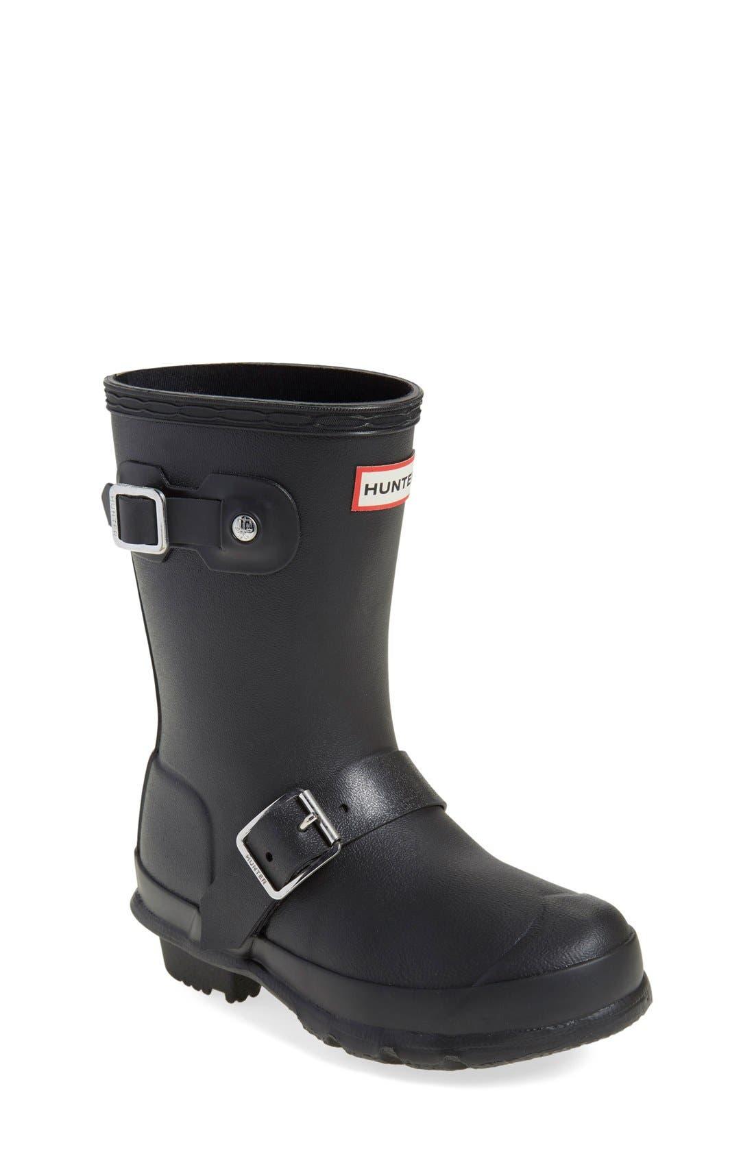 'Original Biker' Waterproof Rain Boot,                             Main thumbnail 1, color,                             Black