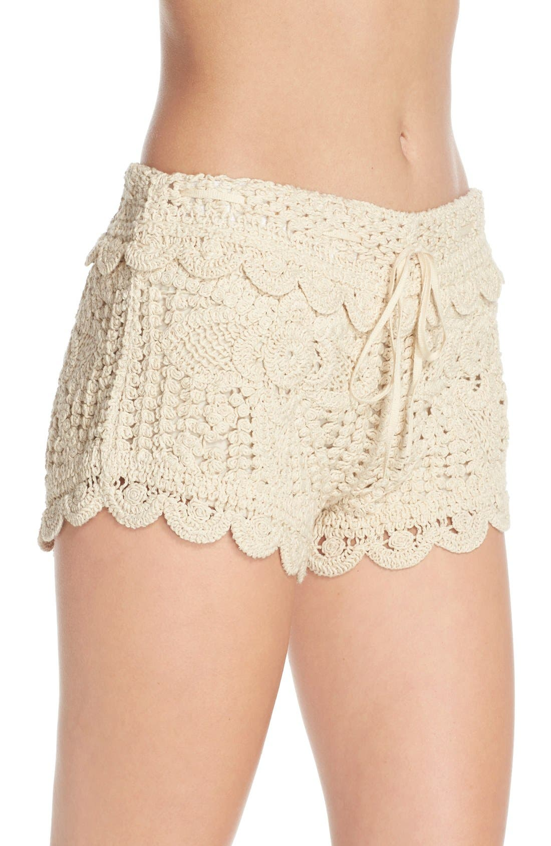Alternate Image 3  - Surf Gypsy Crochet Cover-Up Shorts