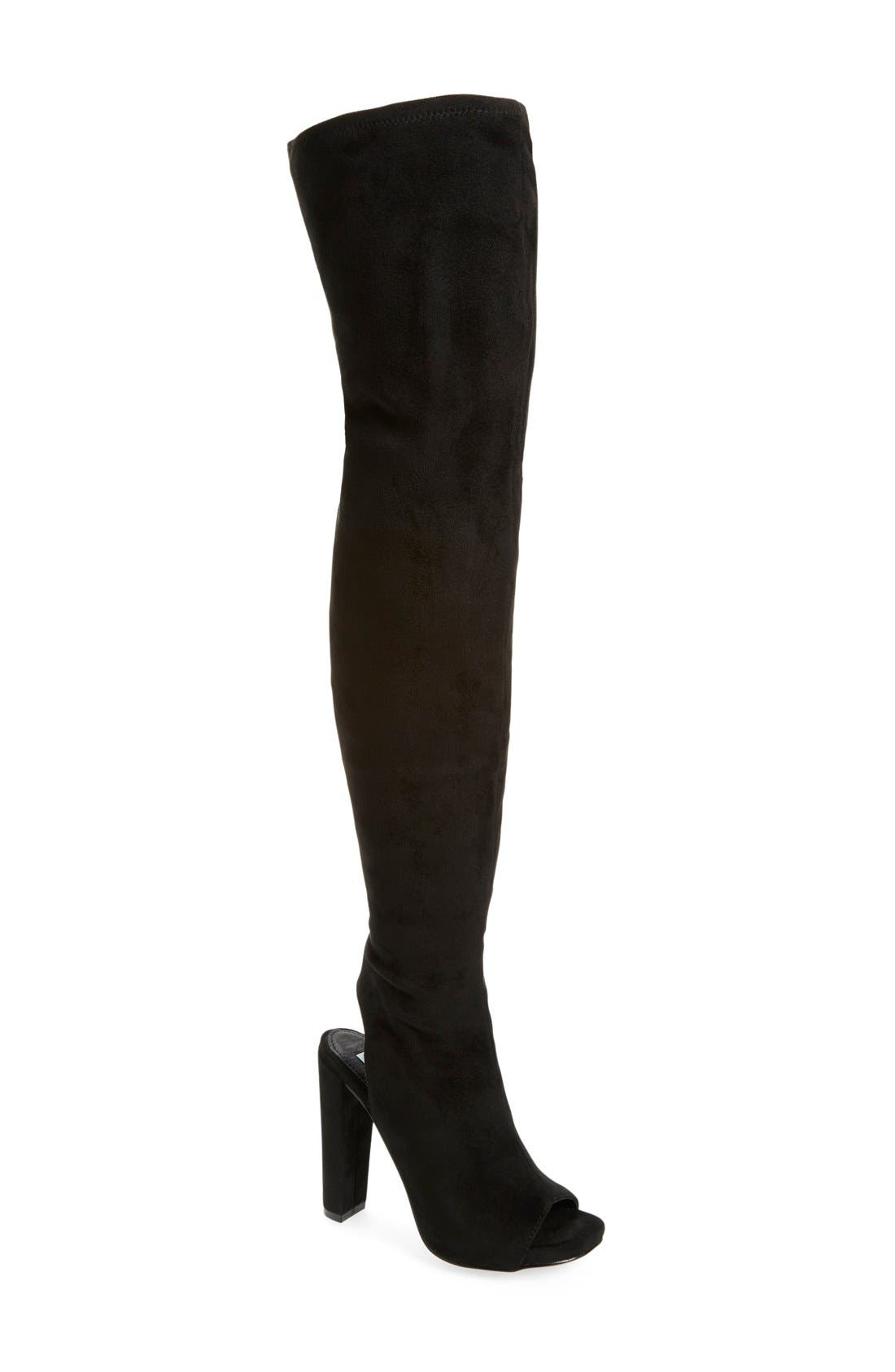 Main Image - Steve Madden 'Yimme' Over the Knee Boot (Women) (Wide Calf)