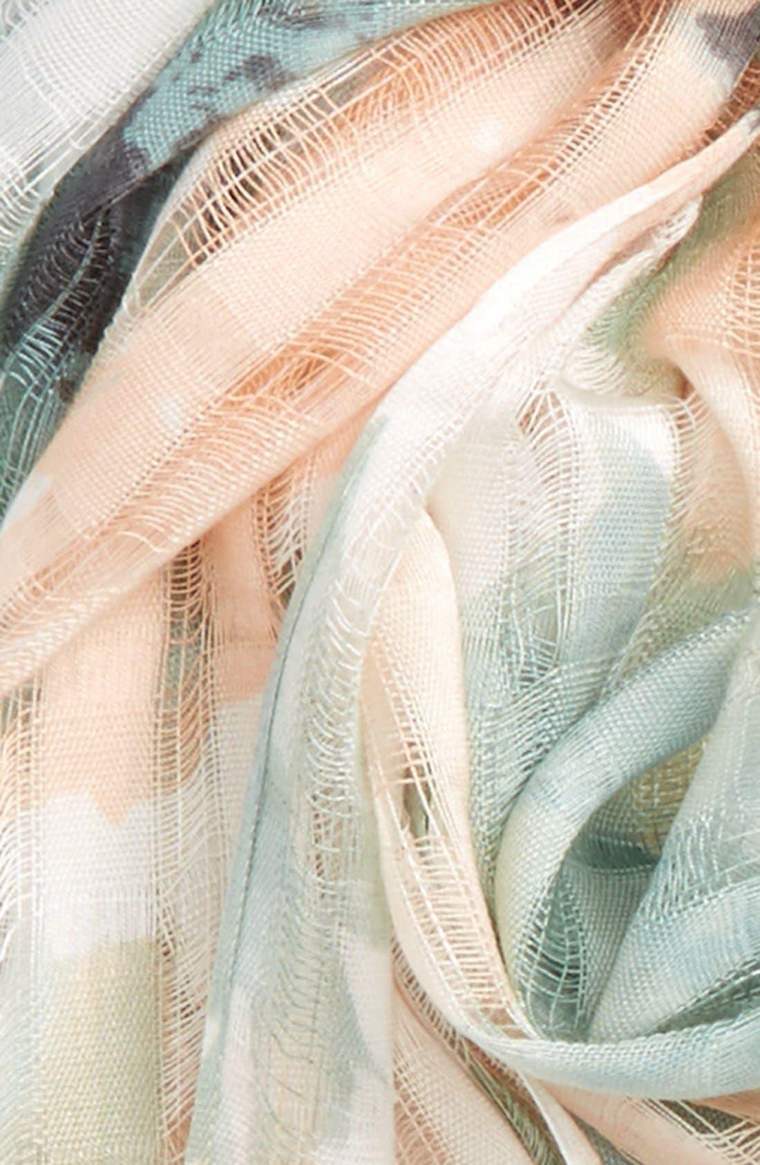 Alternate Image 3  - BP. Floral Print Open Weave Scarf