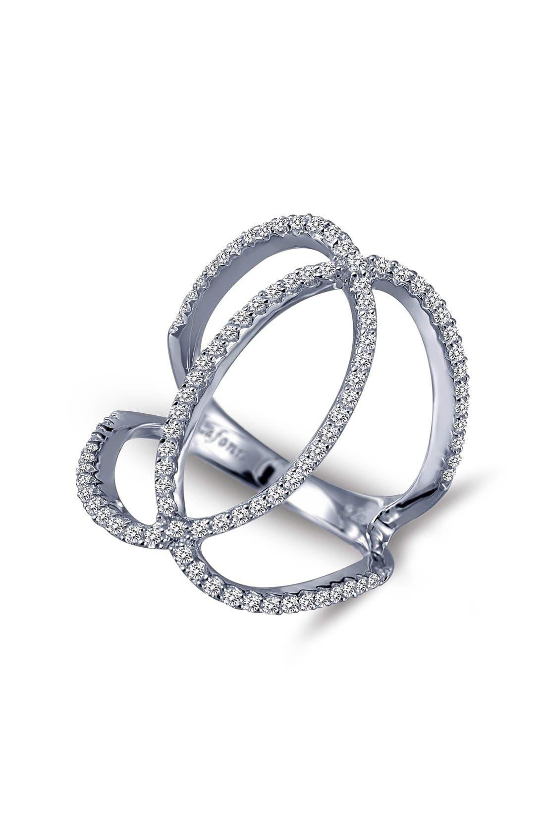 'Lassaire' Openwork Ring,                         Main,                         color, Silver
