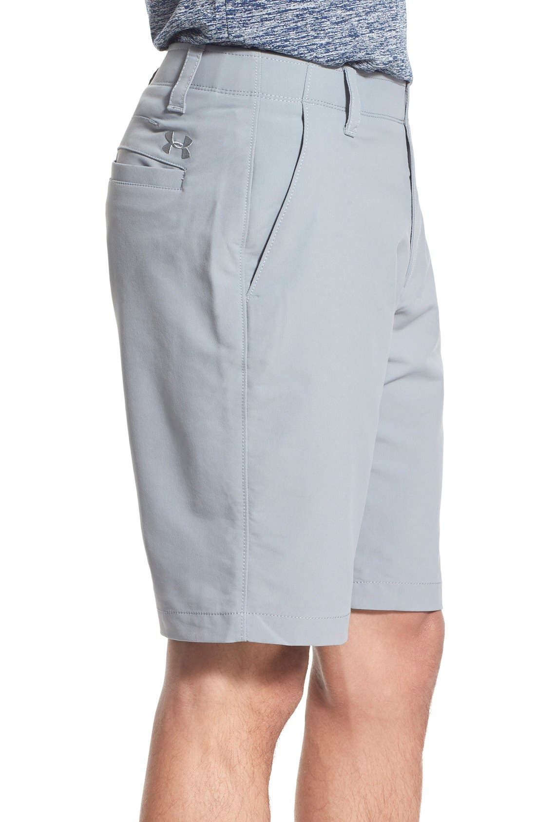 'Matchplay' Moisture Wicking Golf Shorts,                             Alternate thumbnail 3, color,                             Steel