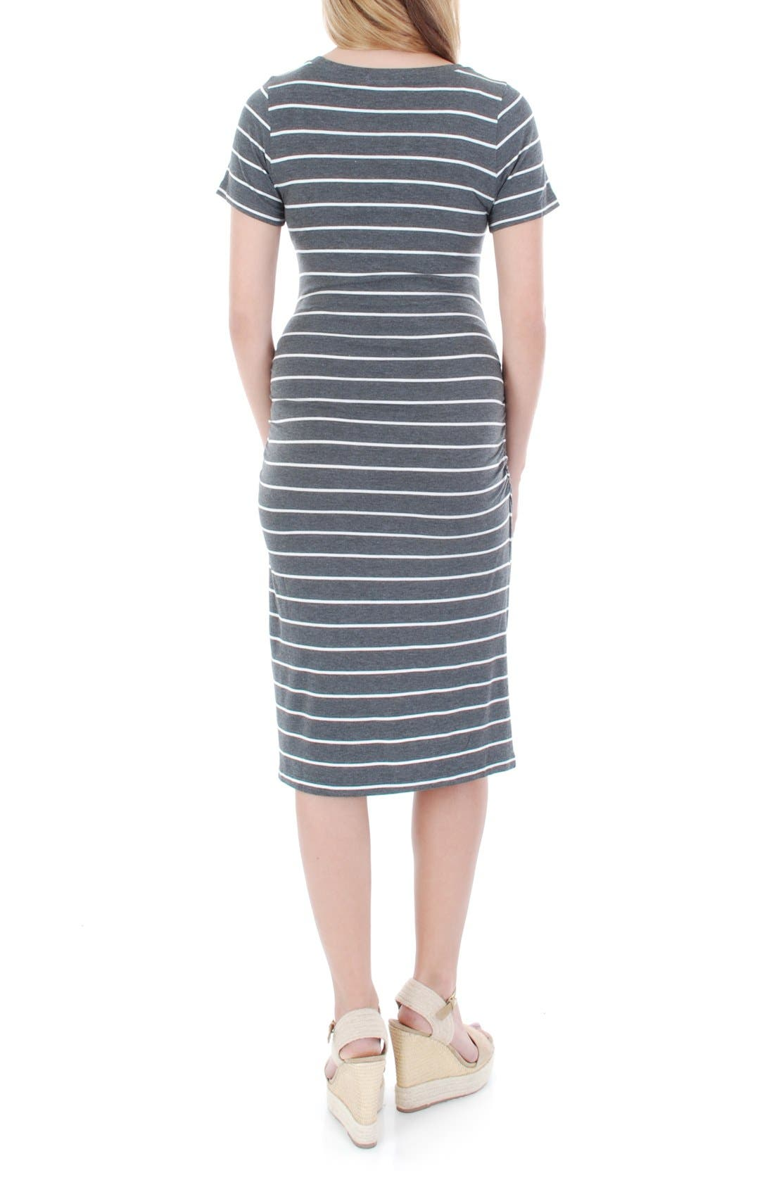 Alternate Image 2  - Everly Grey 'Camila' Stripe Maternity Dress