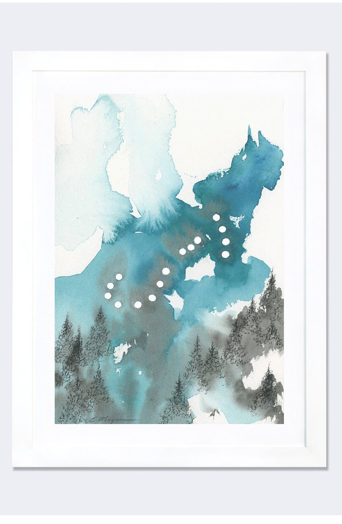 'Scorpio' Framed Fine Art Print,                         Main,                         color, White