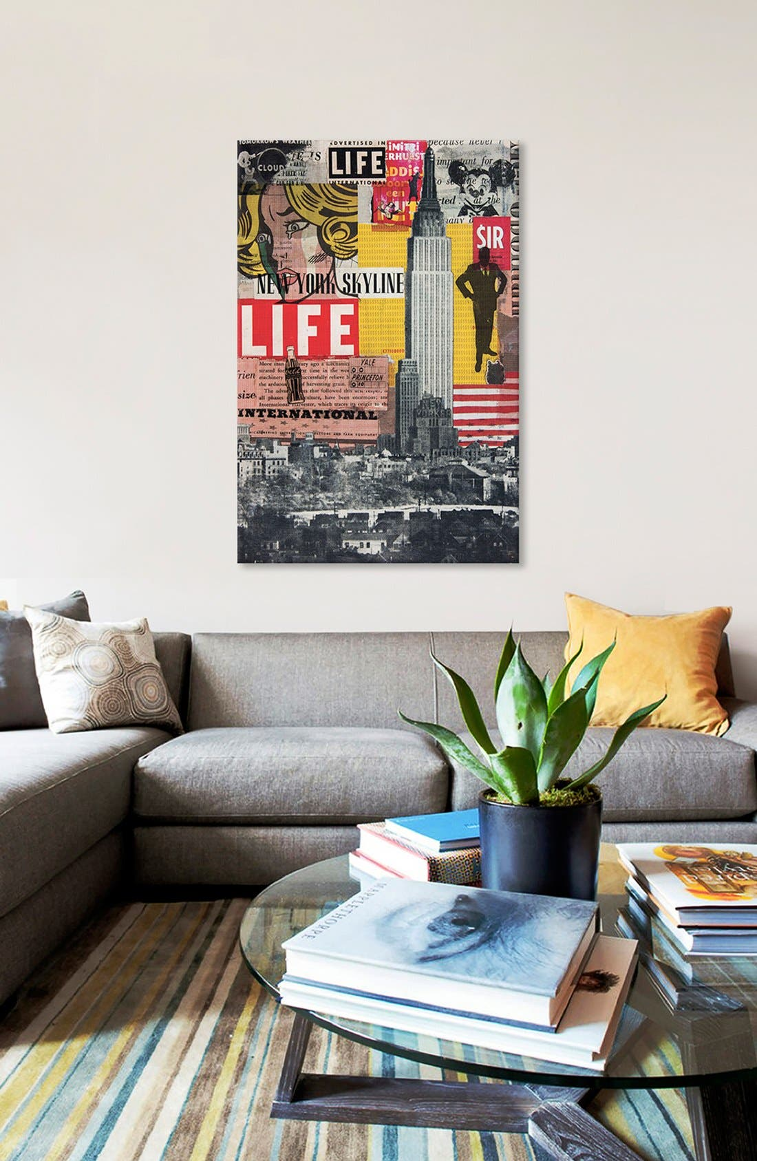 'Hanging in the Air' Giclée Print Canvas Art,                             Alternate thumbnail 2, color,                             Grey