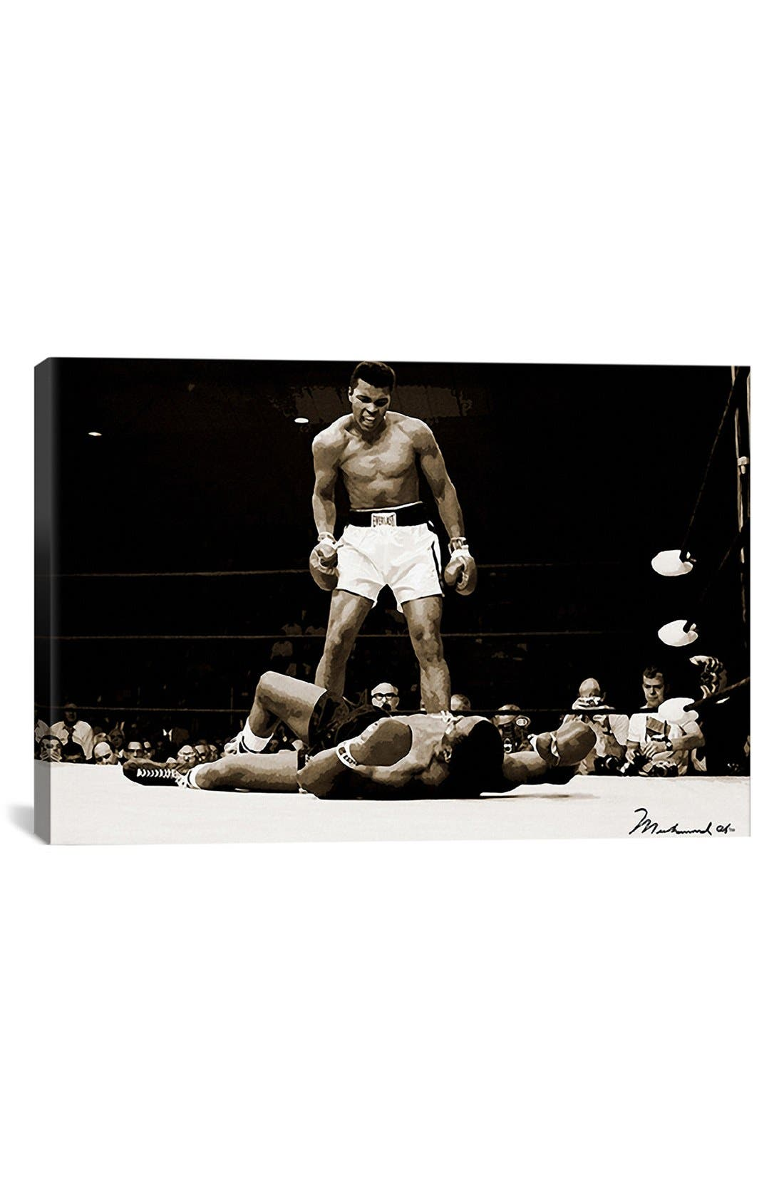 'Muhammad Ali' Giclée Print Canvas Art,                         Main,                         color, Black