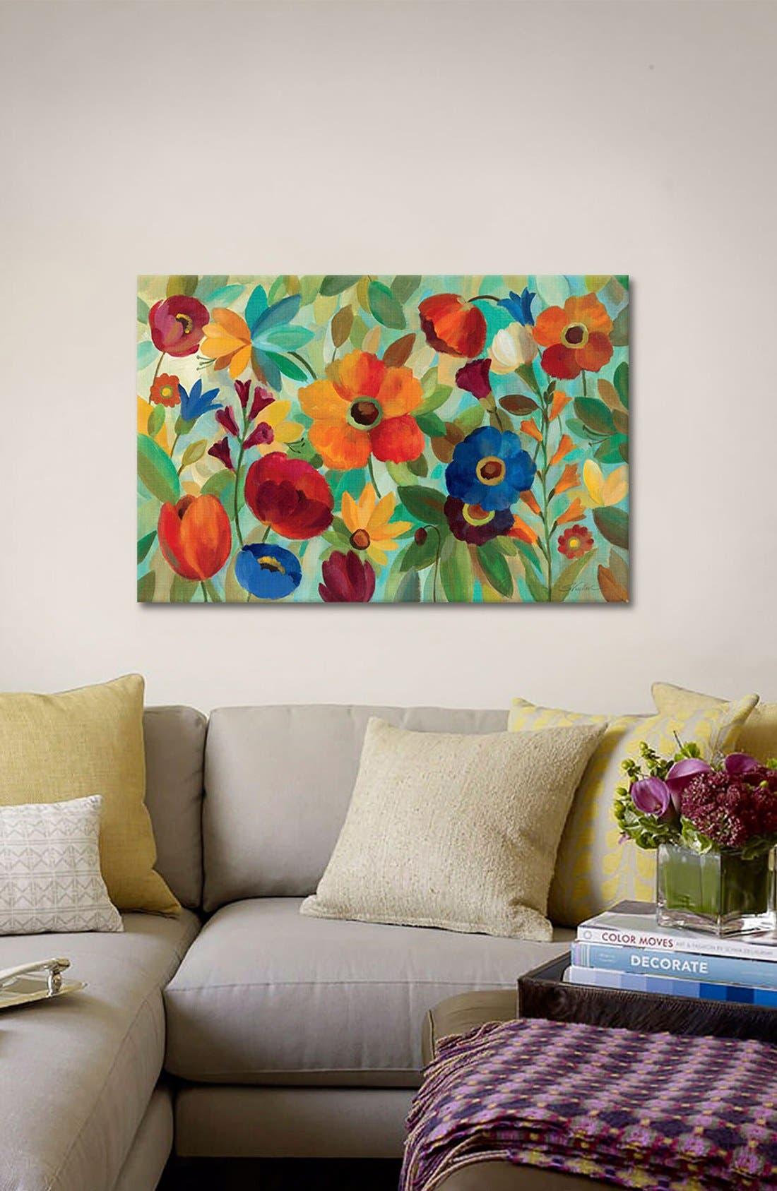'Summer Floral' Giclée Print Canvas Art,                             Alternate thumbnail 2, color,                             Green