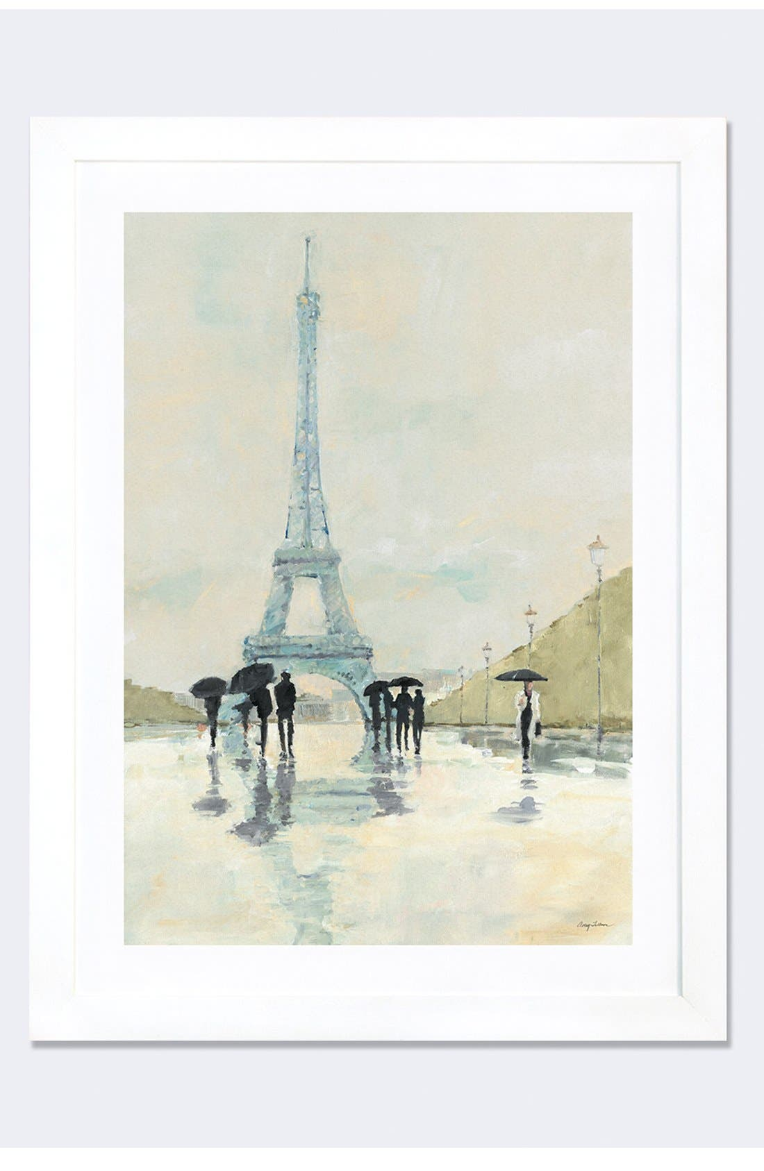 Alternate Image 1 Selected - iCanvas 'April in Paris' Framed Fine Art Print