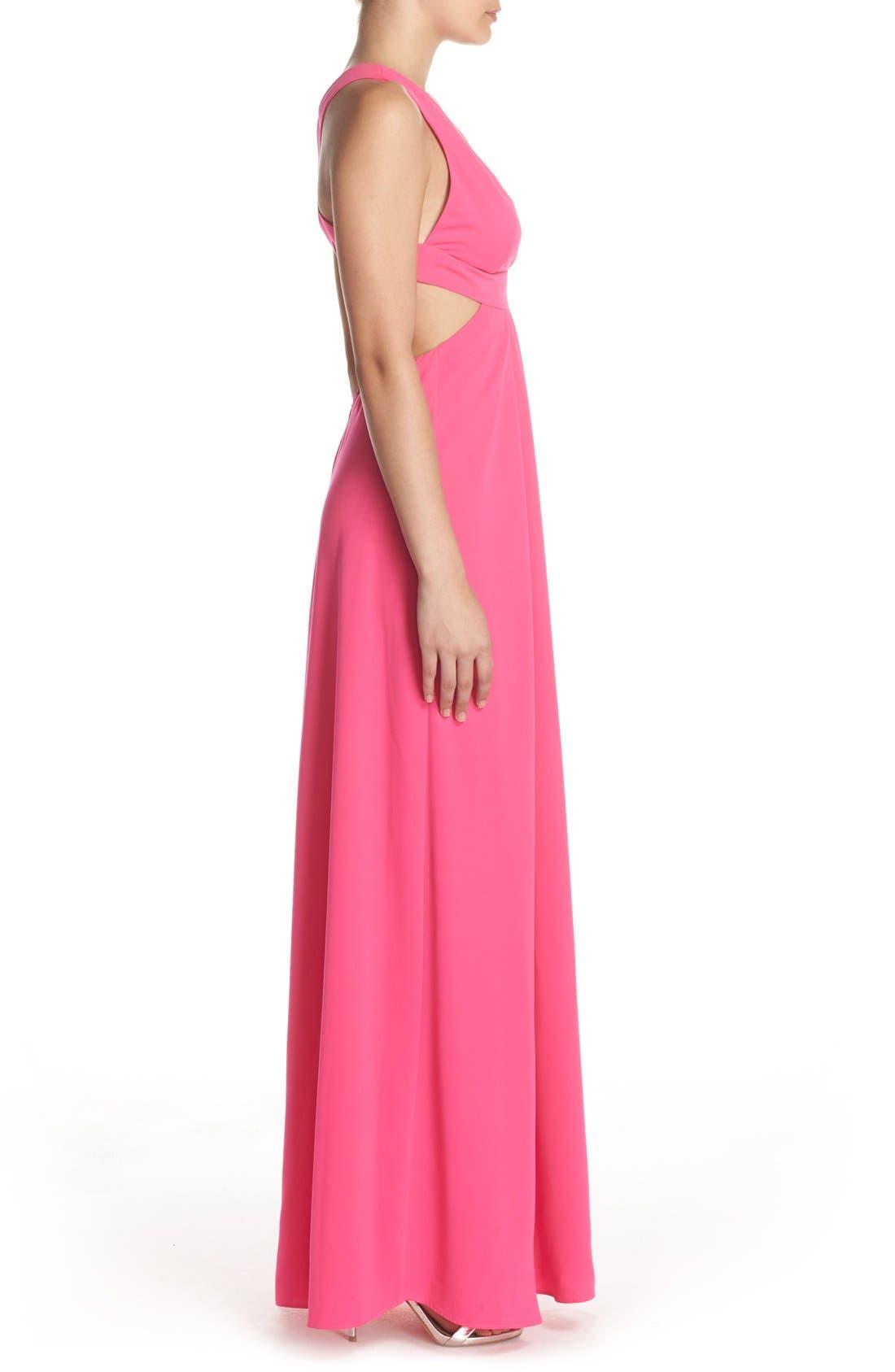 Alternate Image 3  - Jill Jill Stuart Cutout Crepe Gown
