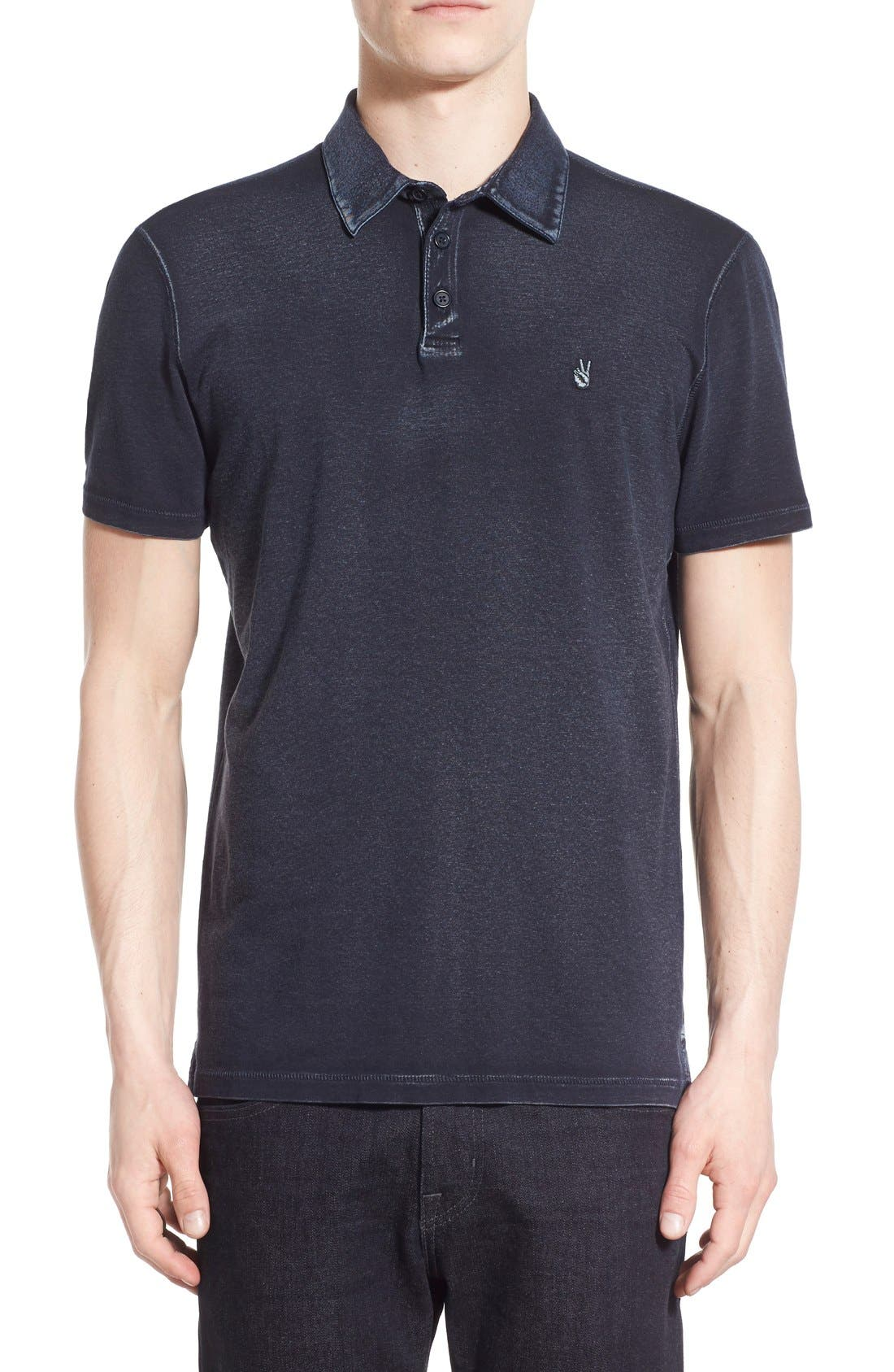 John Varvatos Star USA 'Peace' Slim Fit Polo