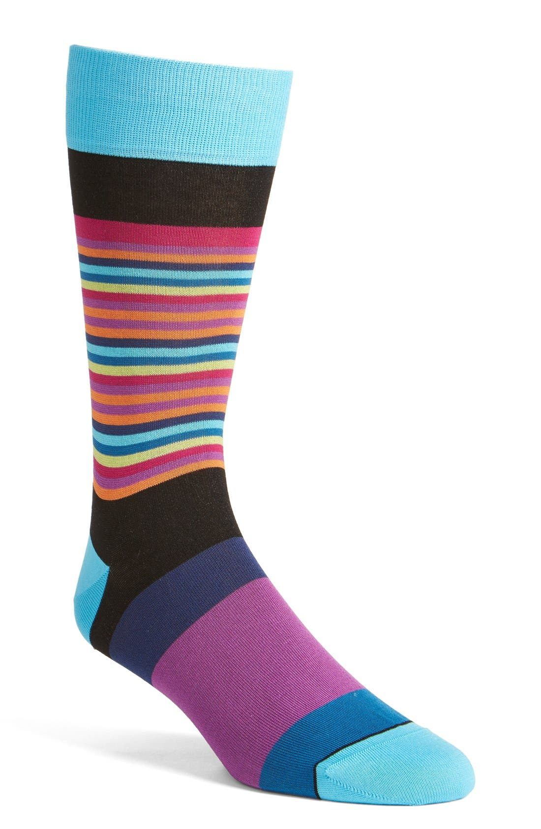 BUGATCHI Thin Stripe/Bold Stripe Socks