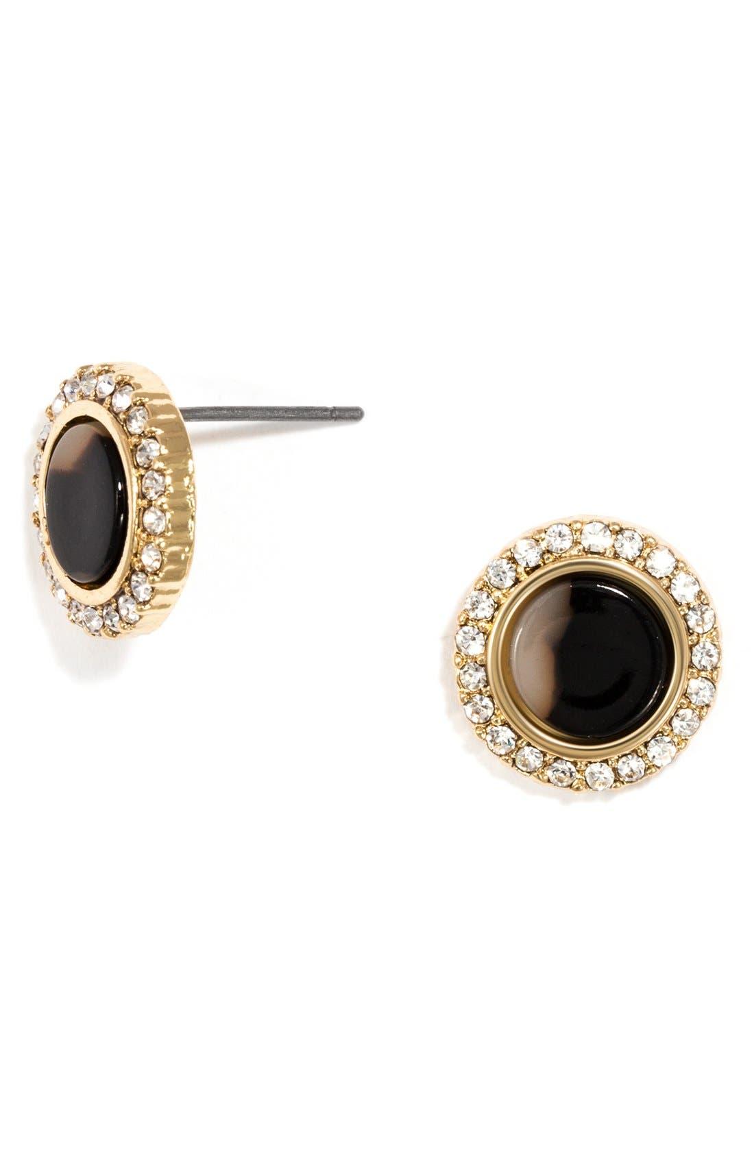 Alternate Image 3  - BaubleBar 'Buchanan' Crystal & Tortoiseshell Earrings (Set of 2)