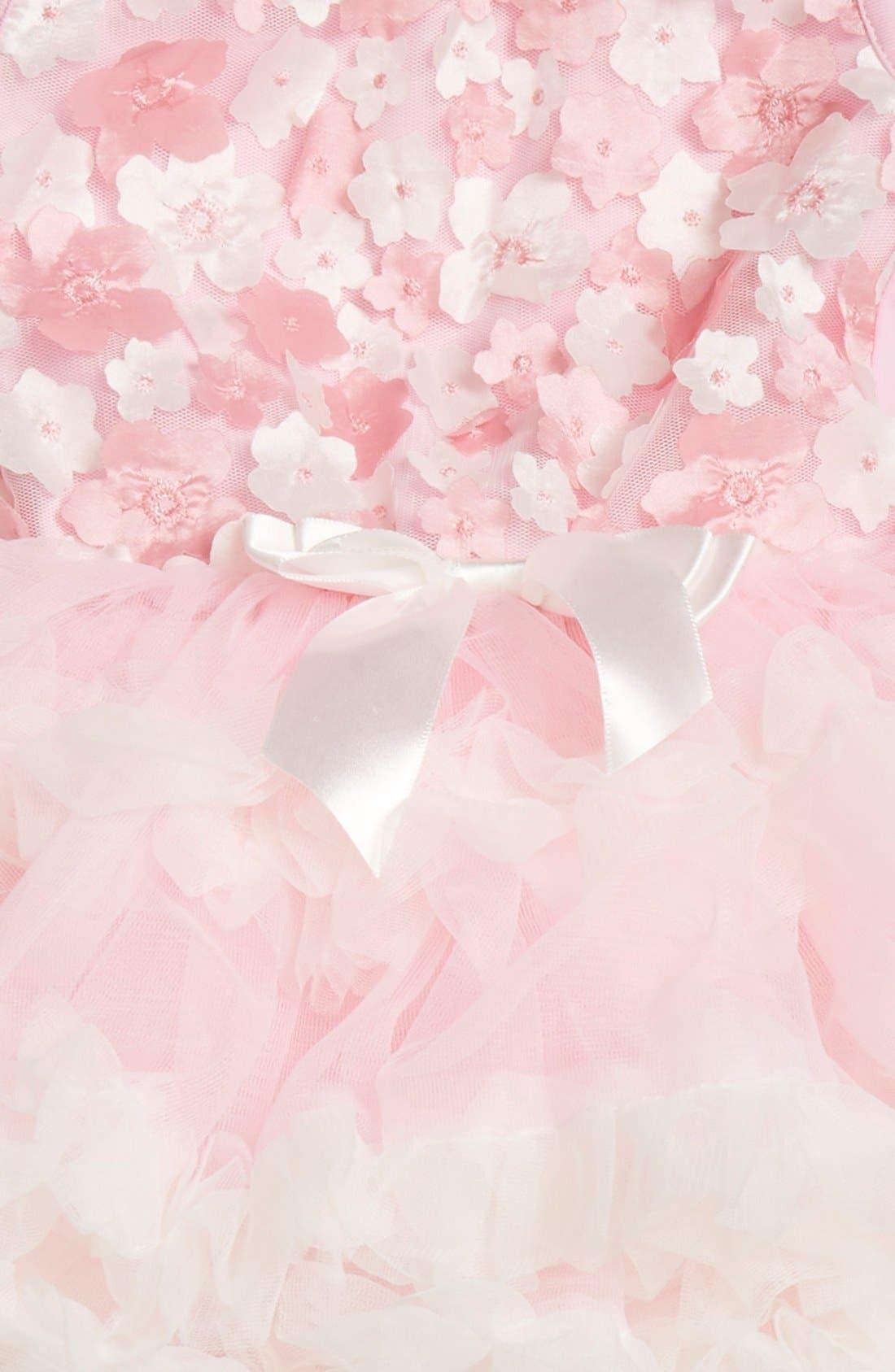 Floral Appliqué Pettidress,                             Alternate thumbnail 3, color,                             Pink