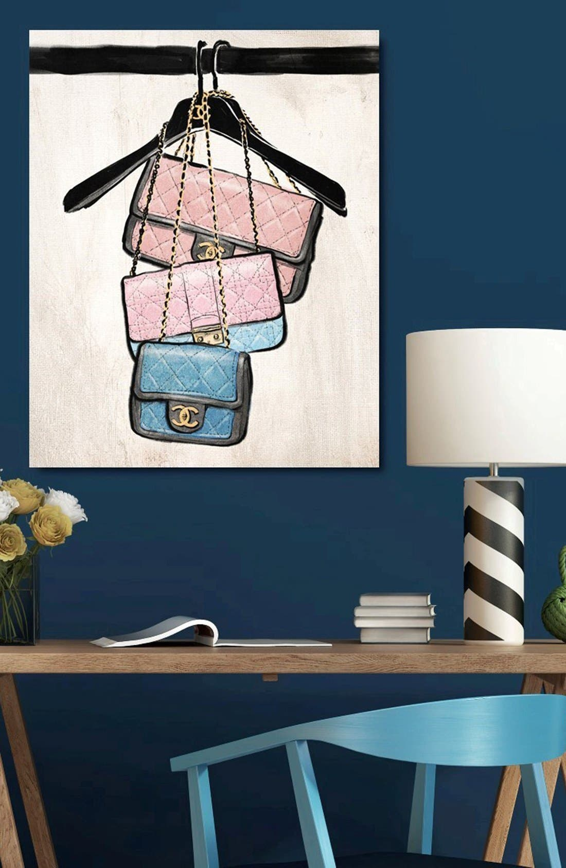 Alternate Image 2  - Oliver Gal 'Closet Purses' Canvas Wall Art