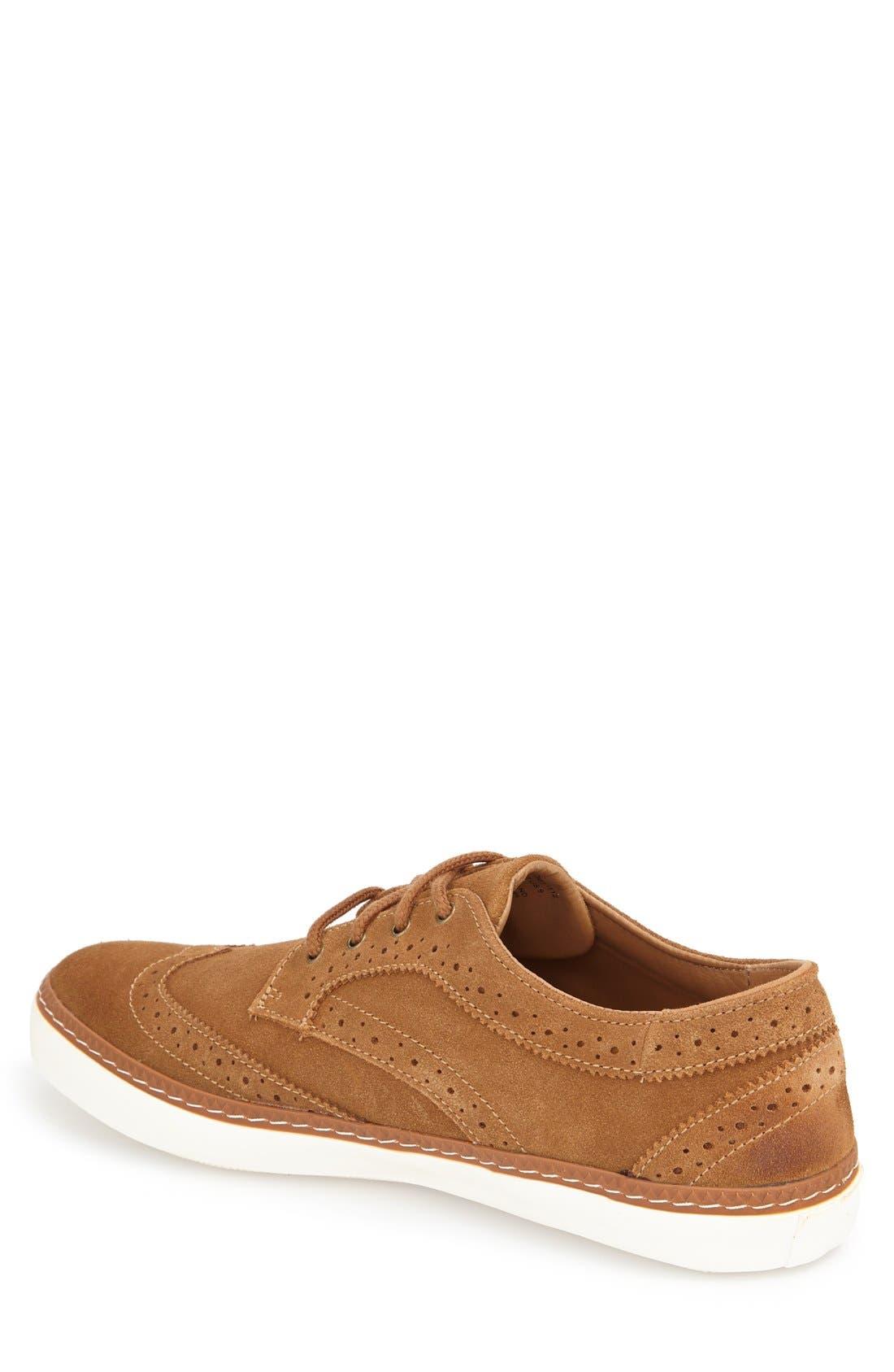 'Novello' Wingtip Sneaker,                             Alternate thumbnail 2, color,                             Daschund Suede
