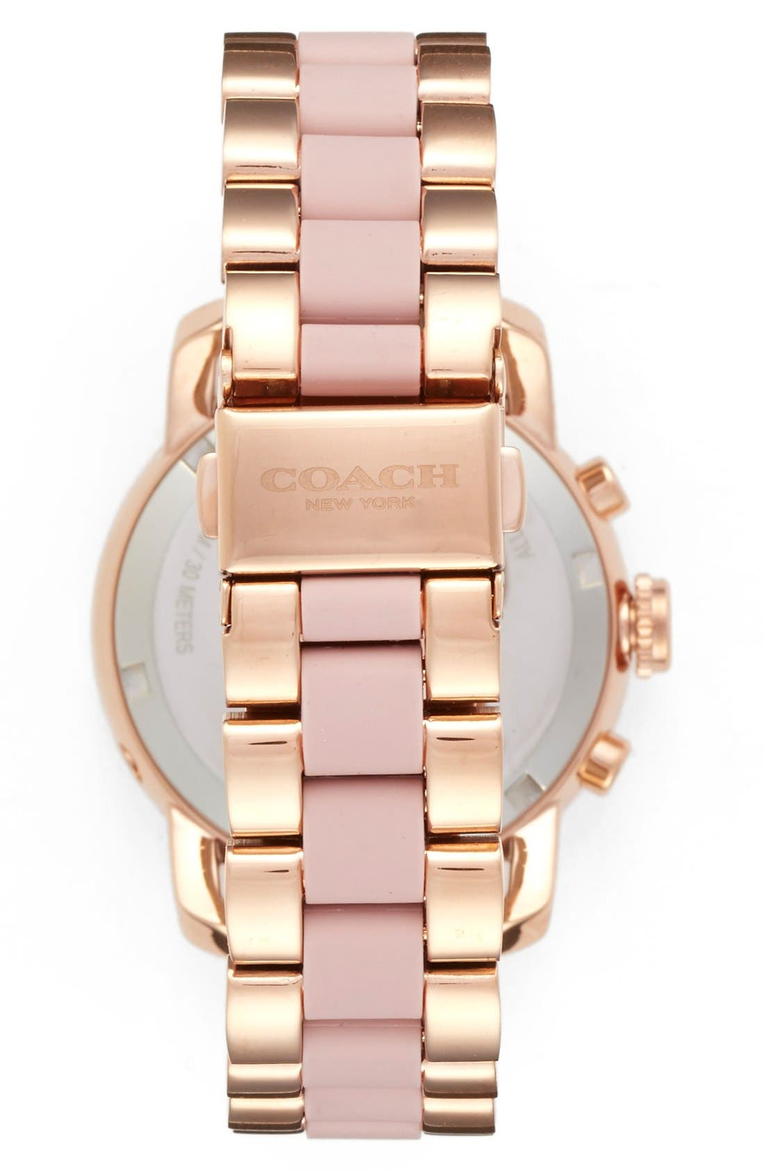 'Legacy' Chronograph Bracelet Watch, 36mm,                             Alternate thumbnail 2, color,                             Rose Gold/ Blush
