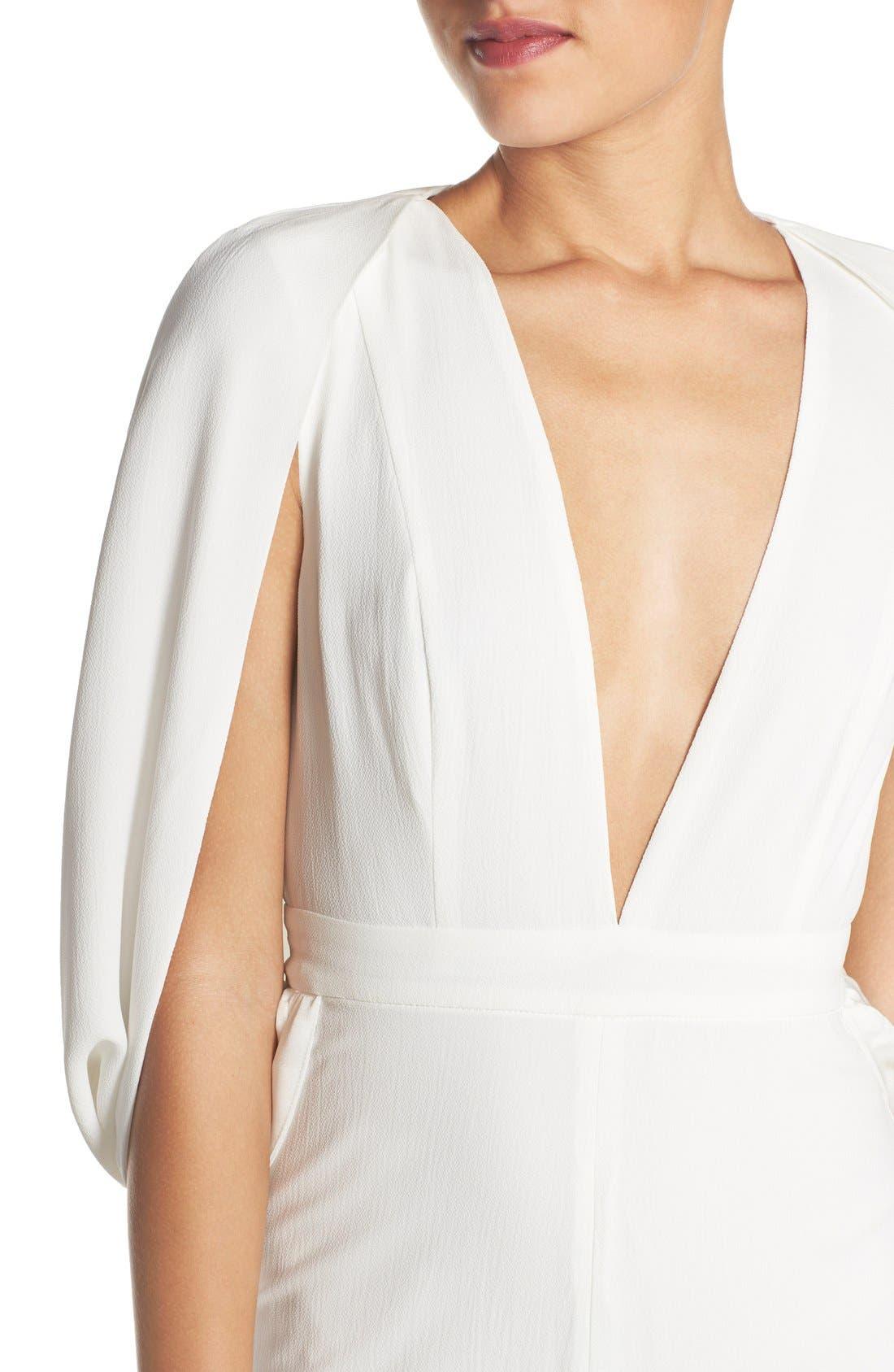 Alternate Image 4  - Misha Collection 'Olympia' Cape Sleeve Jumpsuit
