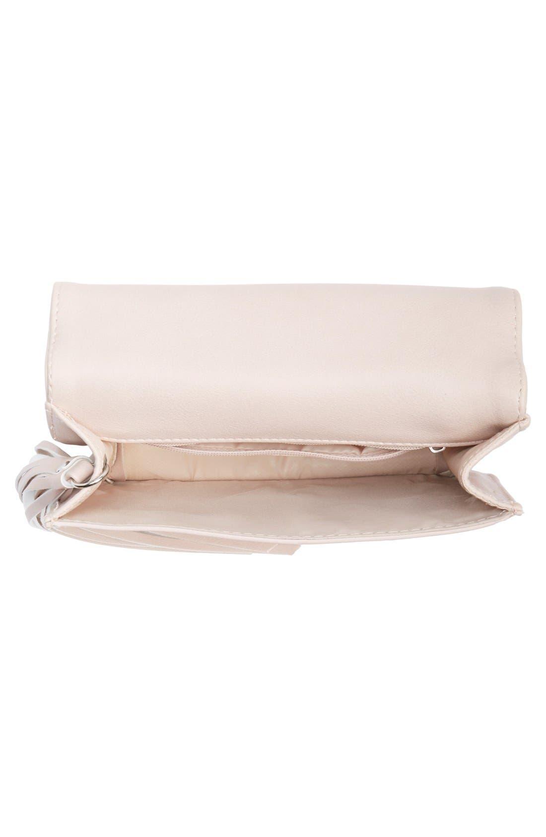 Tassel Crossbody Bag,                             Alternate thumbnail 4, color,                             Blush