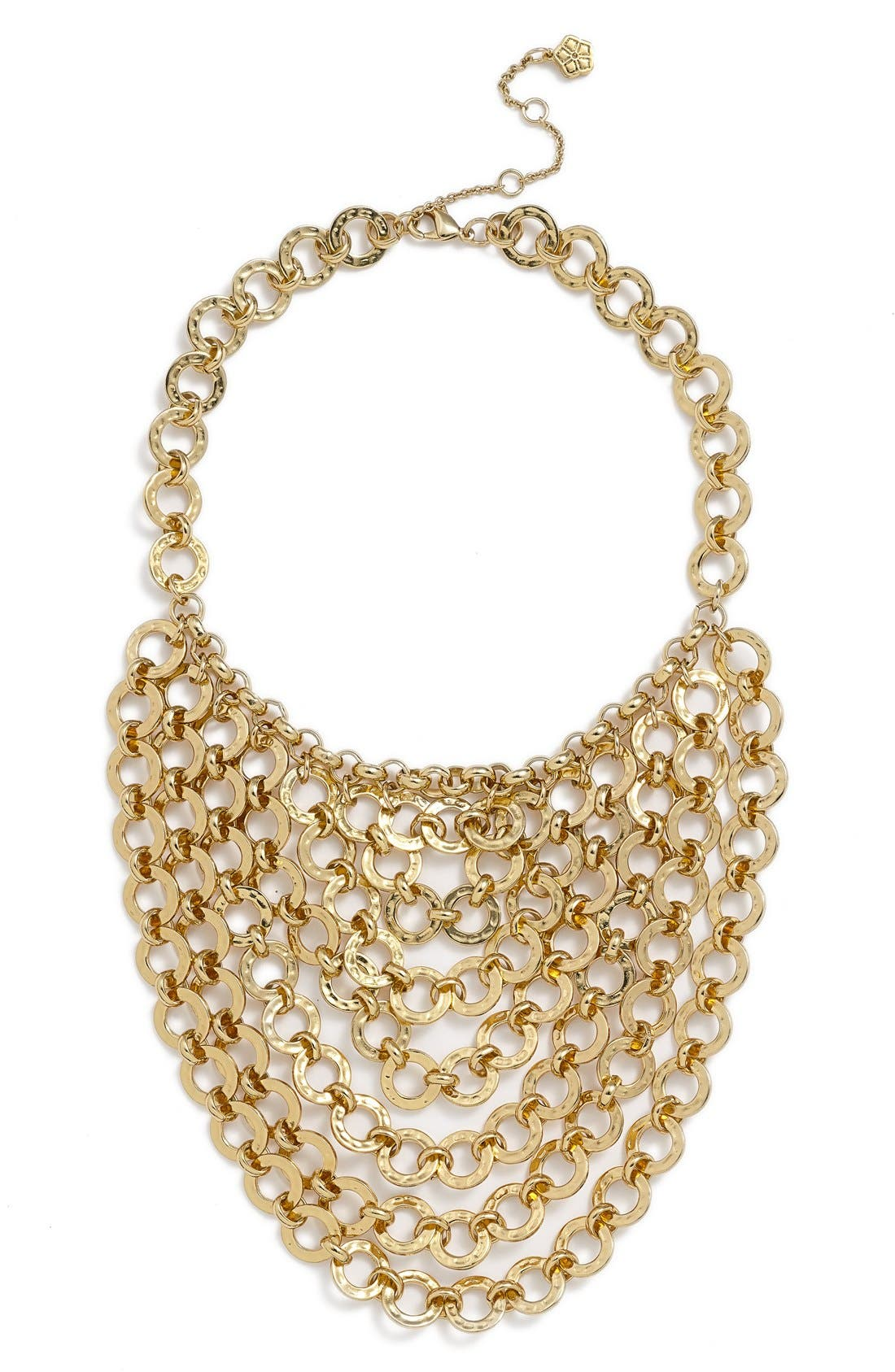 Chain Bib Necklace,                             Main thumbnail 1, color,                             Gold