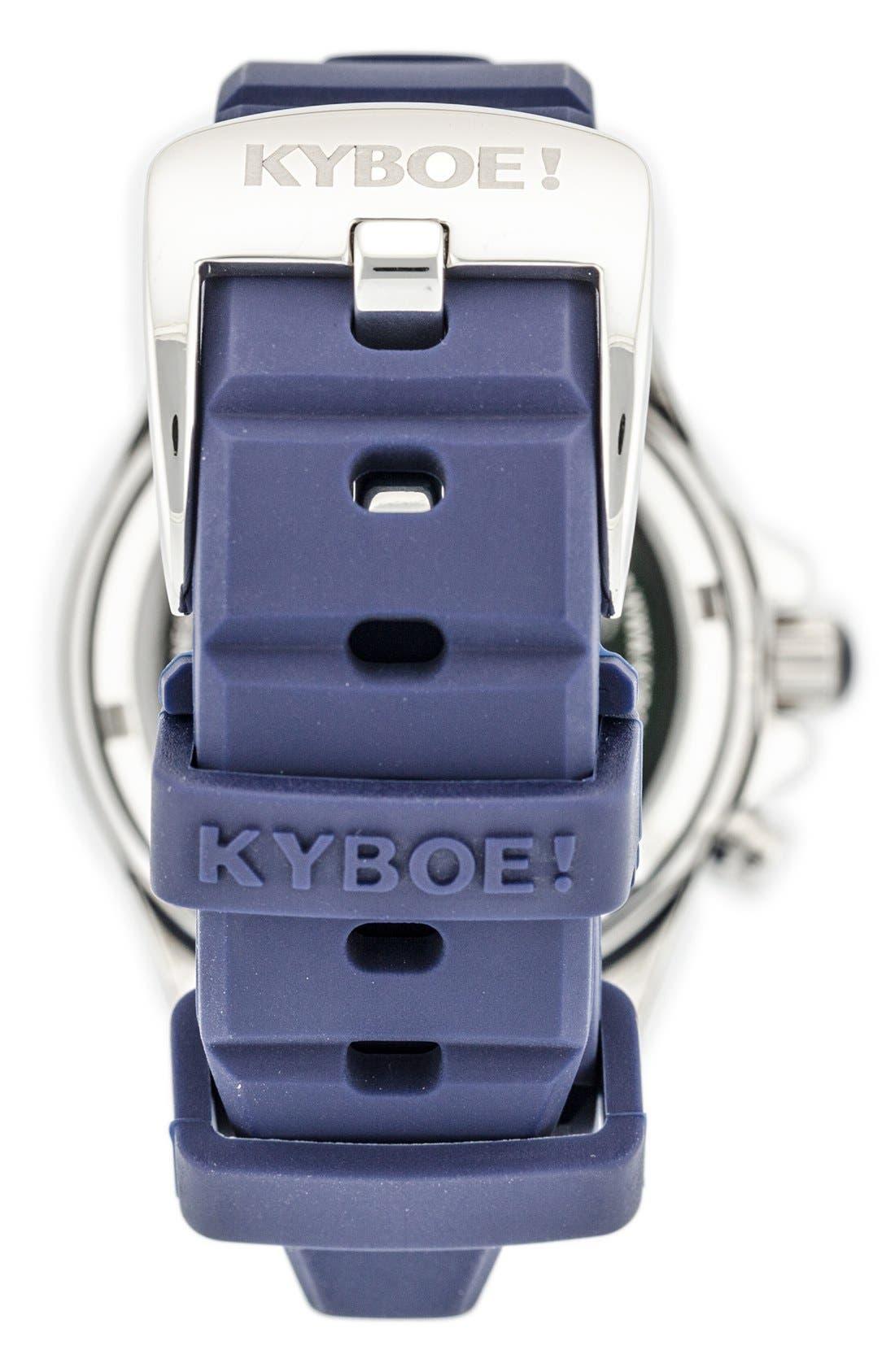 'Marine Voyager' Silicone Strap Watch, 40mm,                             Alternate thumbnail 2, color,                             Dark Blue/ Dark Blue