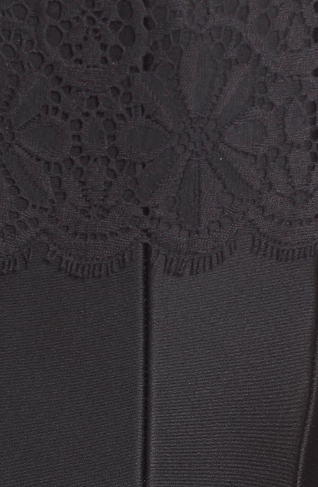 Alternate Image 3  - J. Mendel Floral Lace Yoke Godet Flare Dress