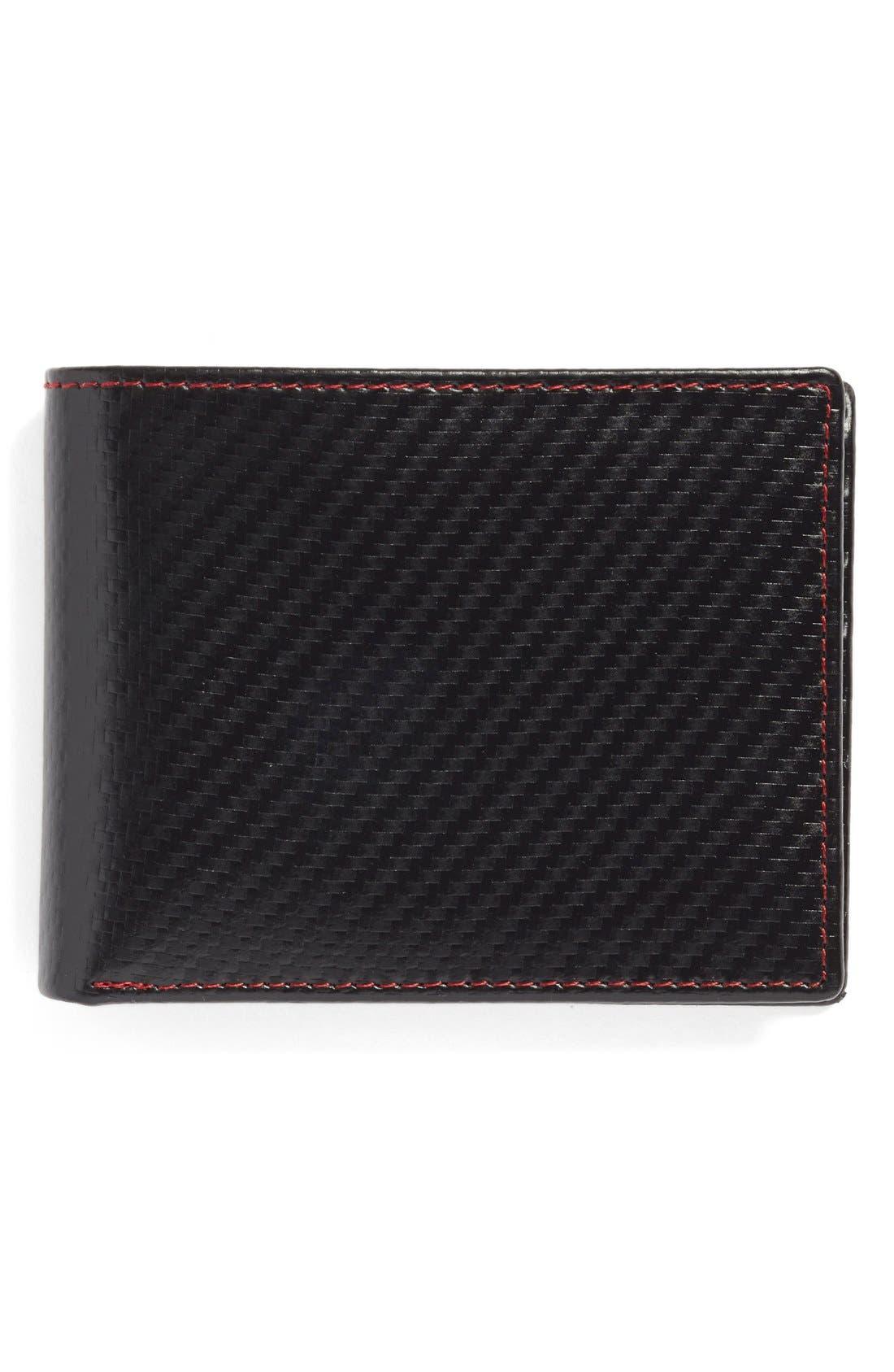 Flip Billfold Wallet,                         Main,                         color, Black