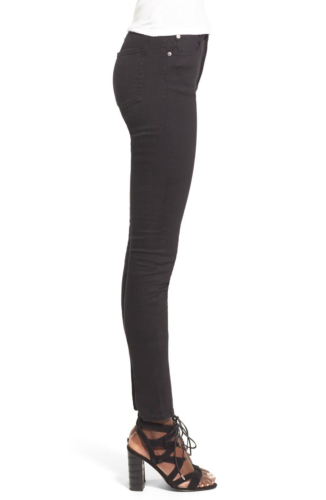 Alternate Image 3  - Cheap Monday High Rise Skinny Jeans (New Black)