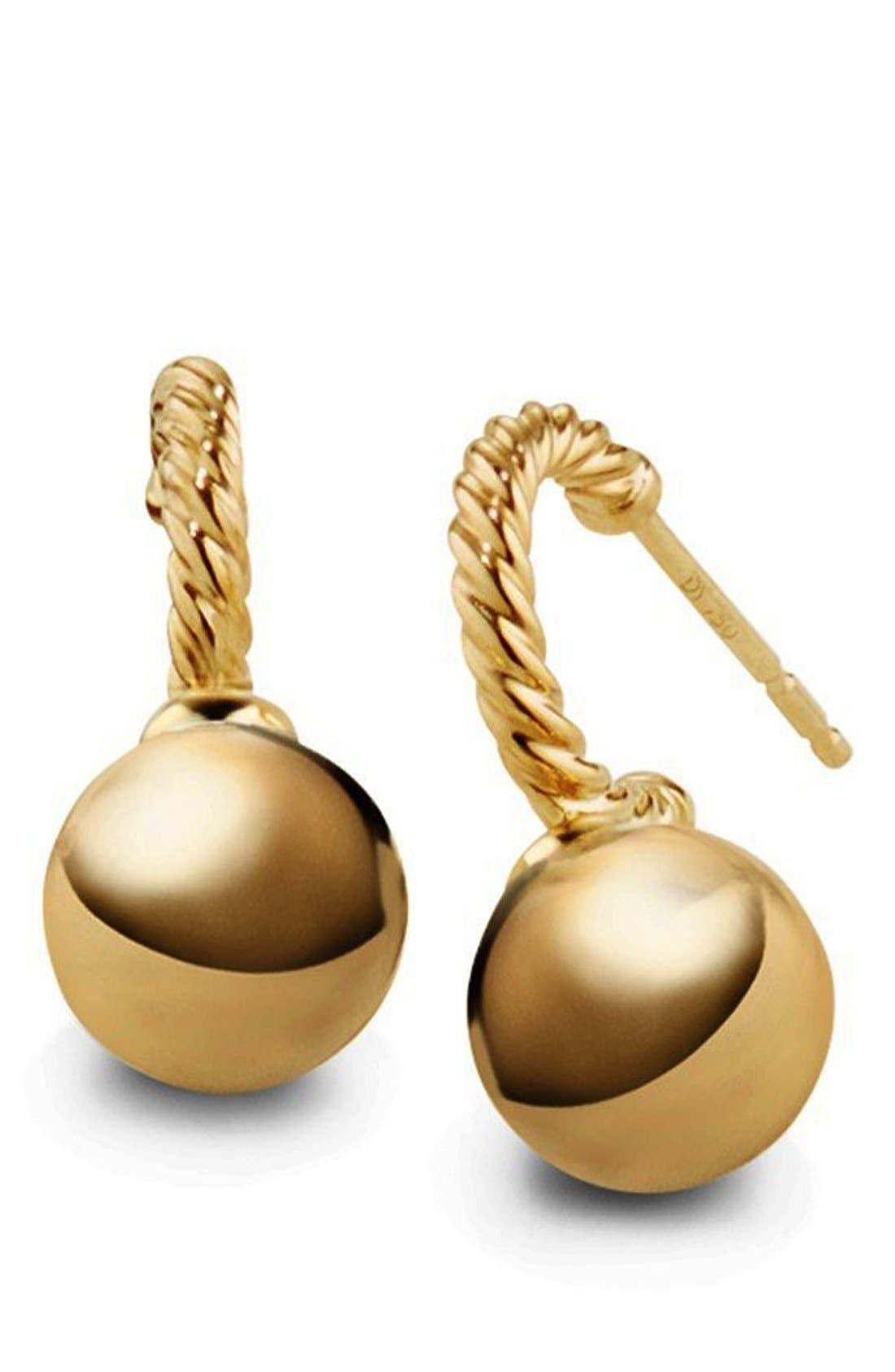 'Solari' Hoop Earrings in 18K Gold,                             Alternate thumbnail 2, color,                             Gold Dome