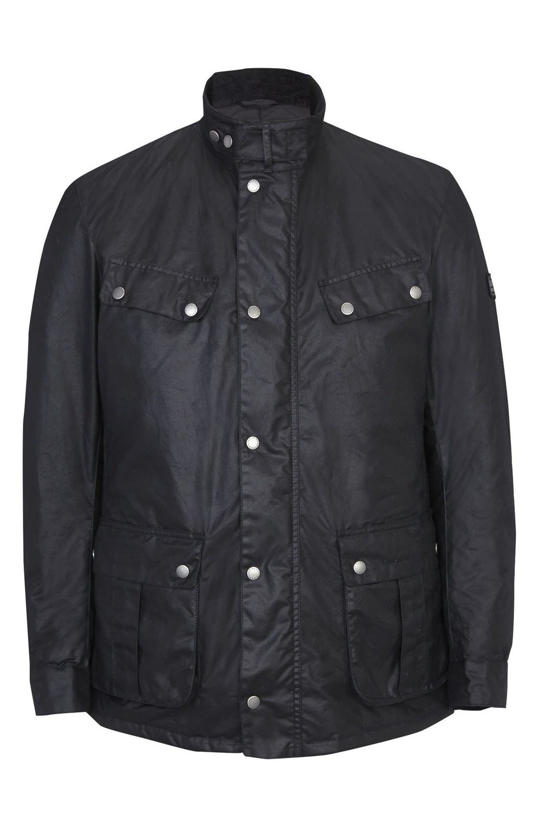 Alternate Image 5  - Barbour 'Duke' Regular Fit Waterproof Waxed Cotton Jacket