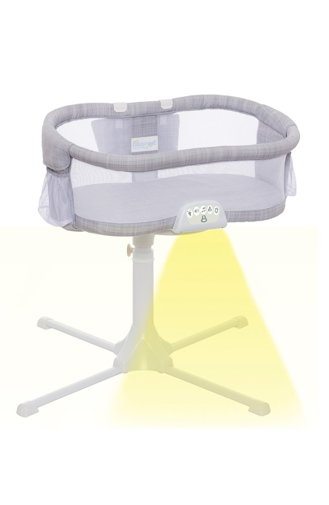 Halo Innovations<sup>®</sup> Bassinest LUXE Plus Bedside Swivel Sleeper,                             Alternate thumbnail 8, color,                             Gray Melange